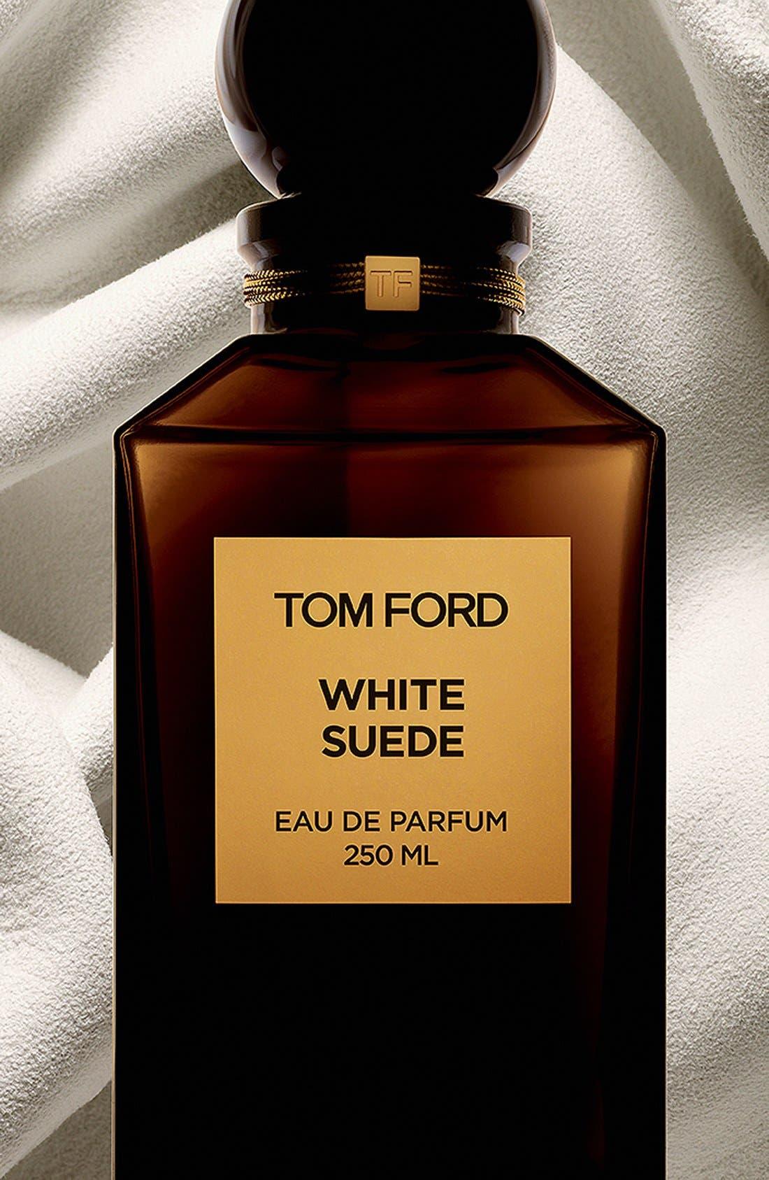 TOM FORD, Private Blend White Suede Eau de Parfum Decanter, Alternate thumbnail 2, color, NO COLOR.