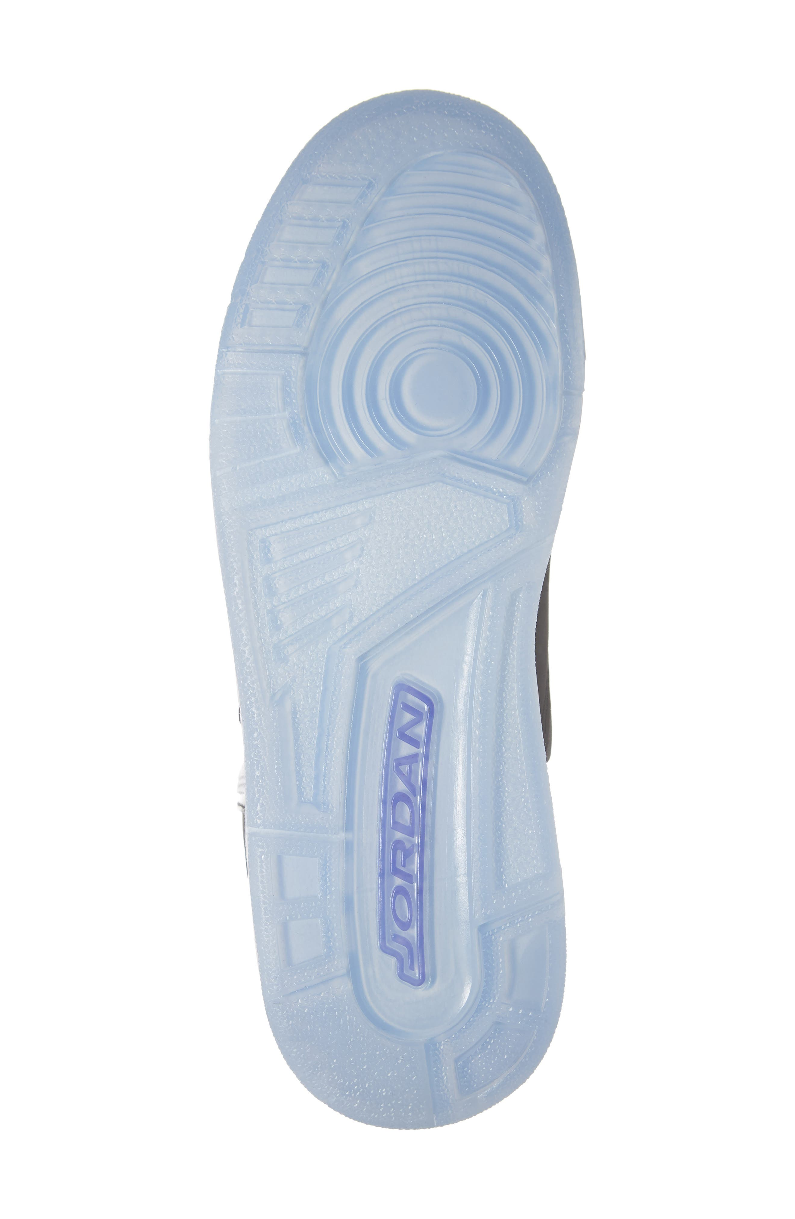 JORDAN, Nike Air Jordan Courtside 23 Sneaker, Alternate thumbnail 6, color, WHITE/ CONCORD BLACK