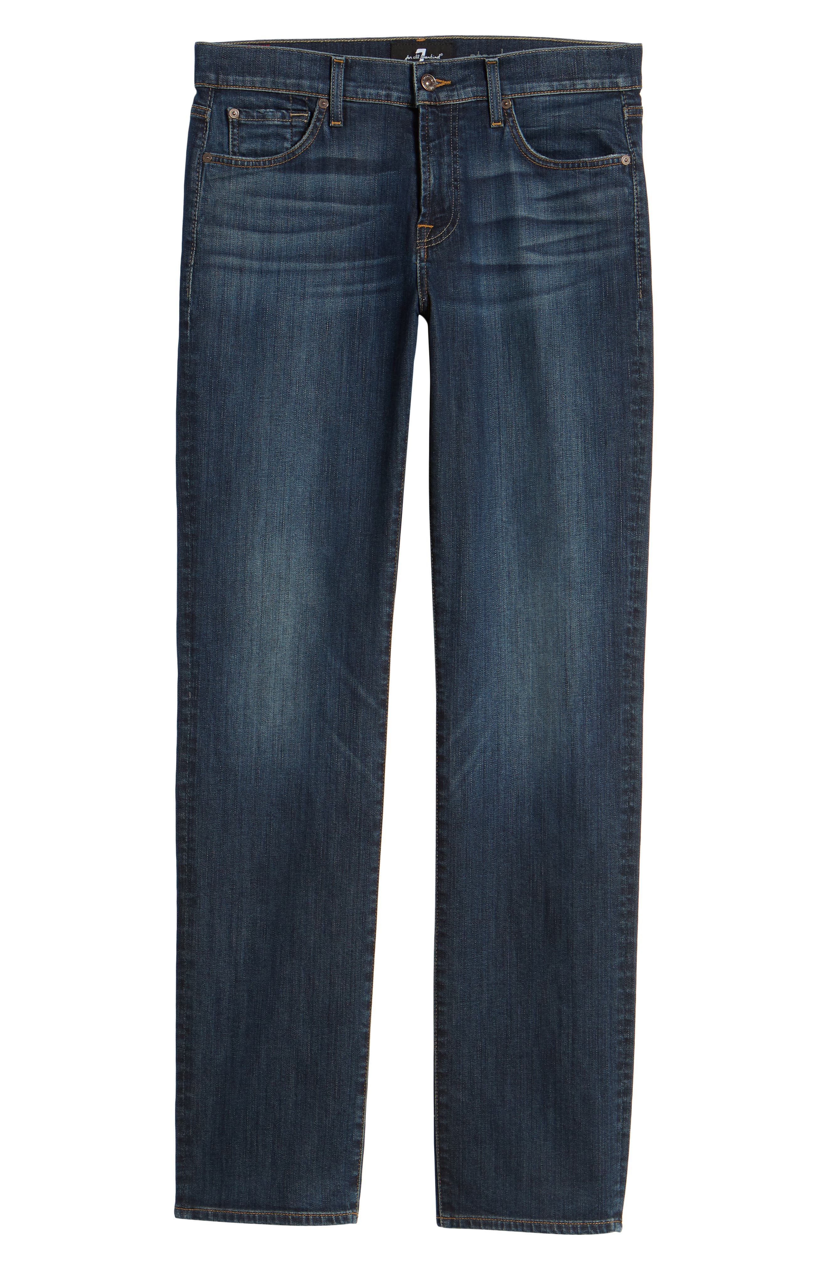 7 FOR ALL MANKIND<SUP>®</SUP>, Luxe Performance Standard Straight Leg Jeans, Alternate thumbnail 7, color, LUXE PERFORMANCE YELM
