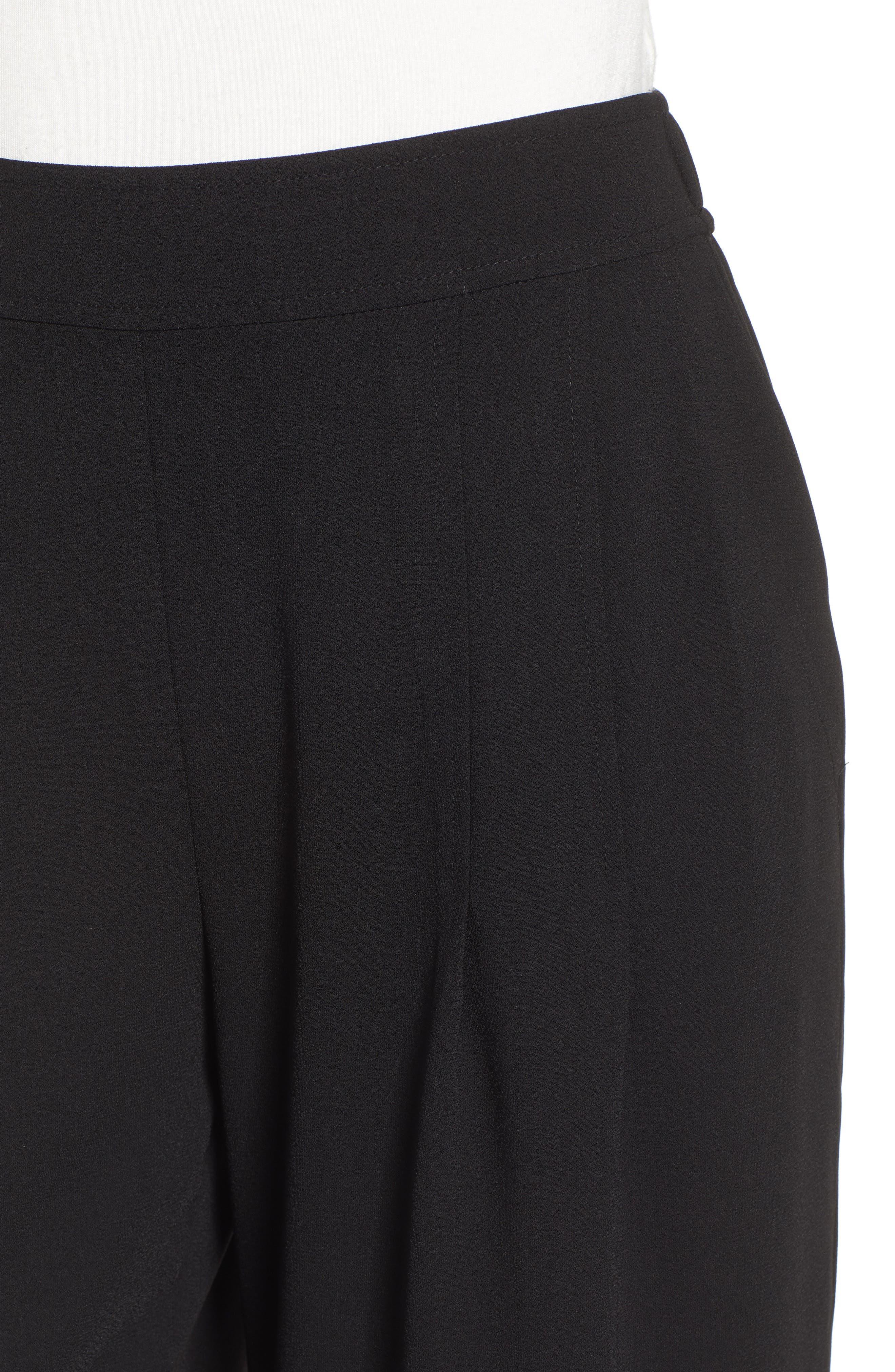BP., High Waist Soft Wide Leg Crop Pants, Alternate thumbnail 6, color, BLACK