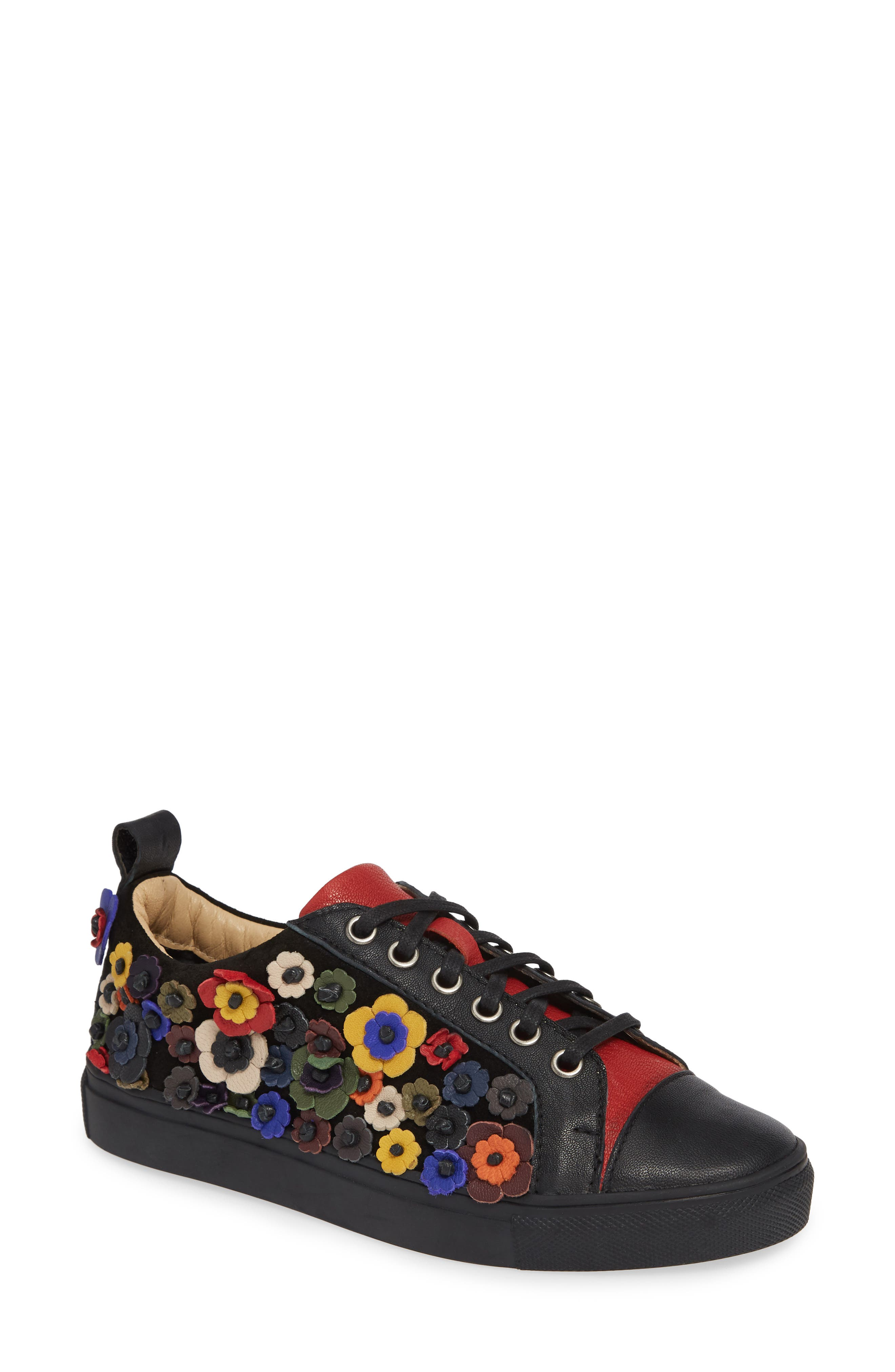 SHERIDAN MIA, Satyr Sneaker, Main thumbnail 1, color, BLACK LEATHER