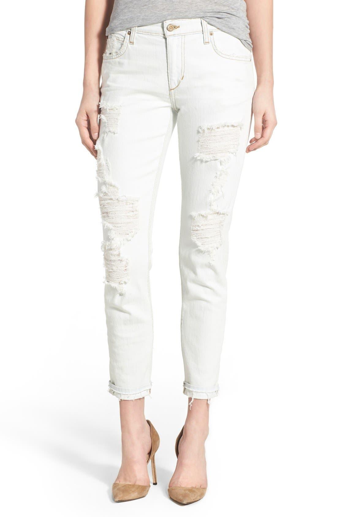 JOE'S, 'Collector's - Billie' Ankle Slim Boyfriend Jeans, Main thumbnail 1, color, 100