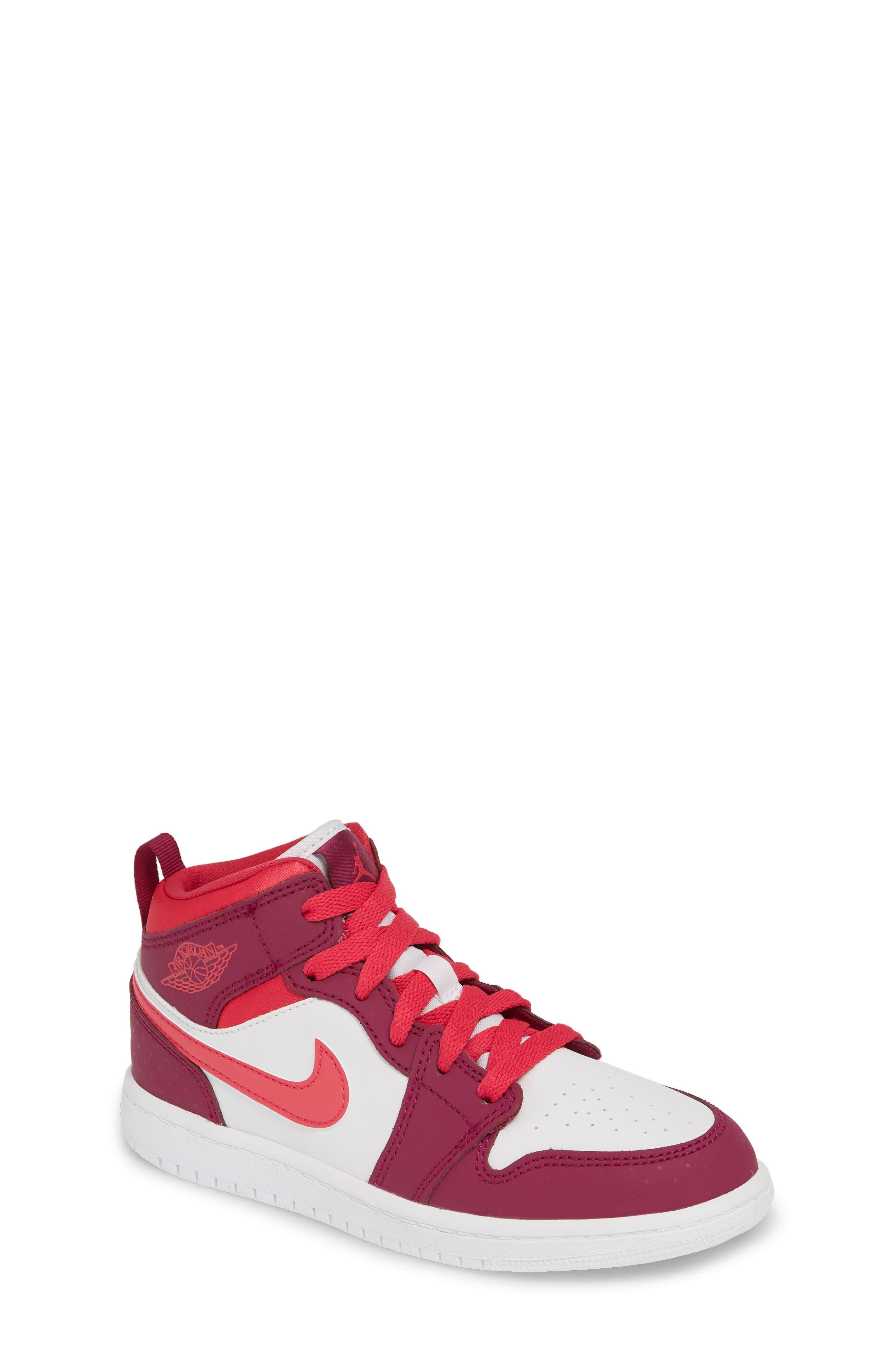 Toddler Nike Jordan 1 Mid Basketball Shoe Size 15 M  Pink
