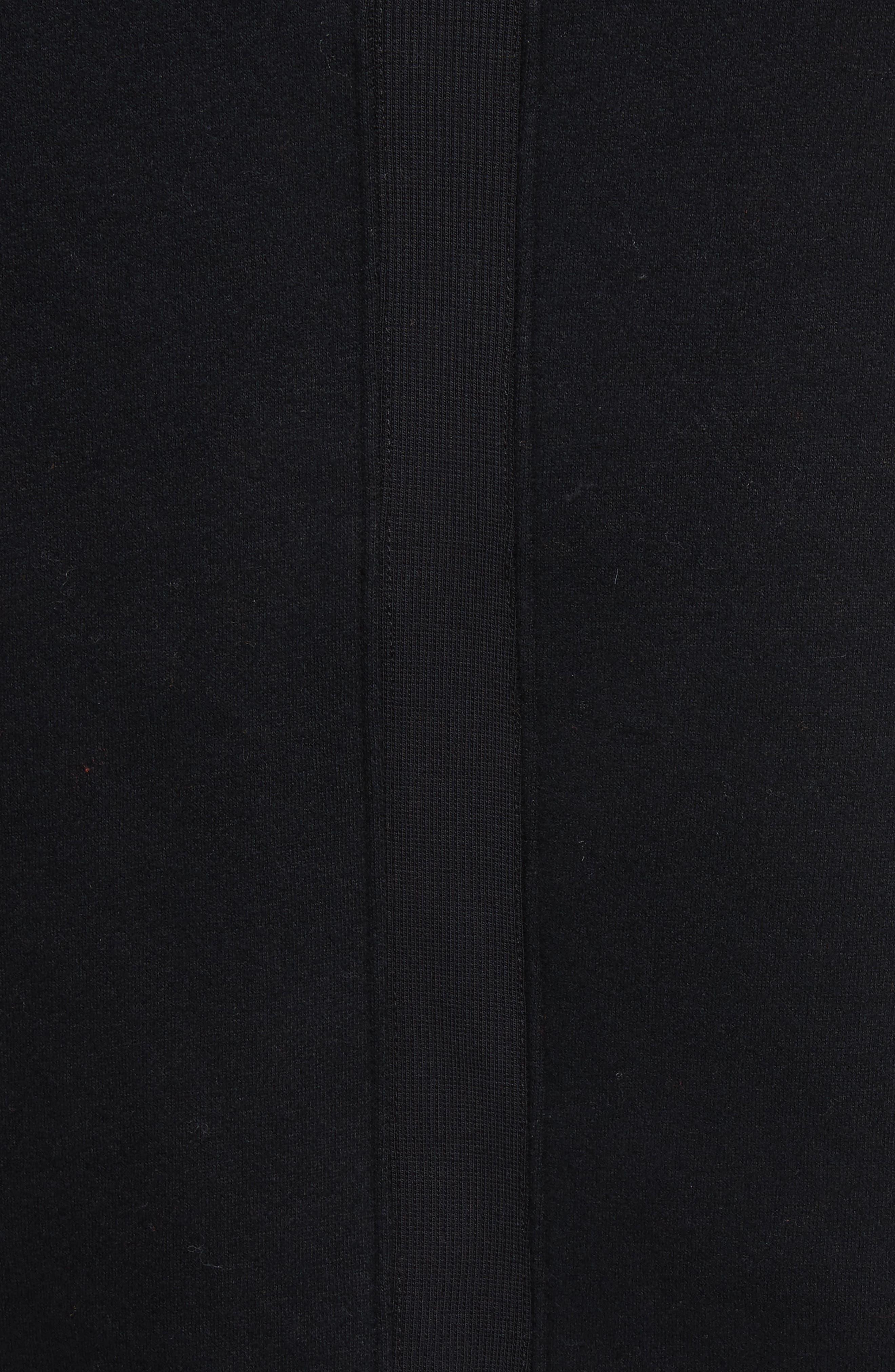 OVADIA & SONS, Distressed Hoodie, Alternate thumbnail 5, color, BLACK