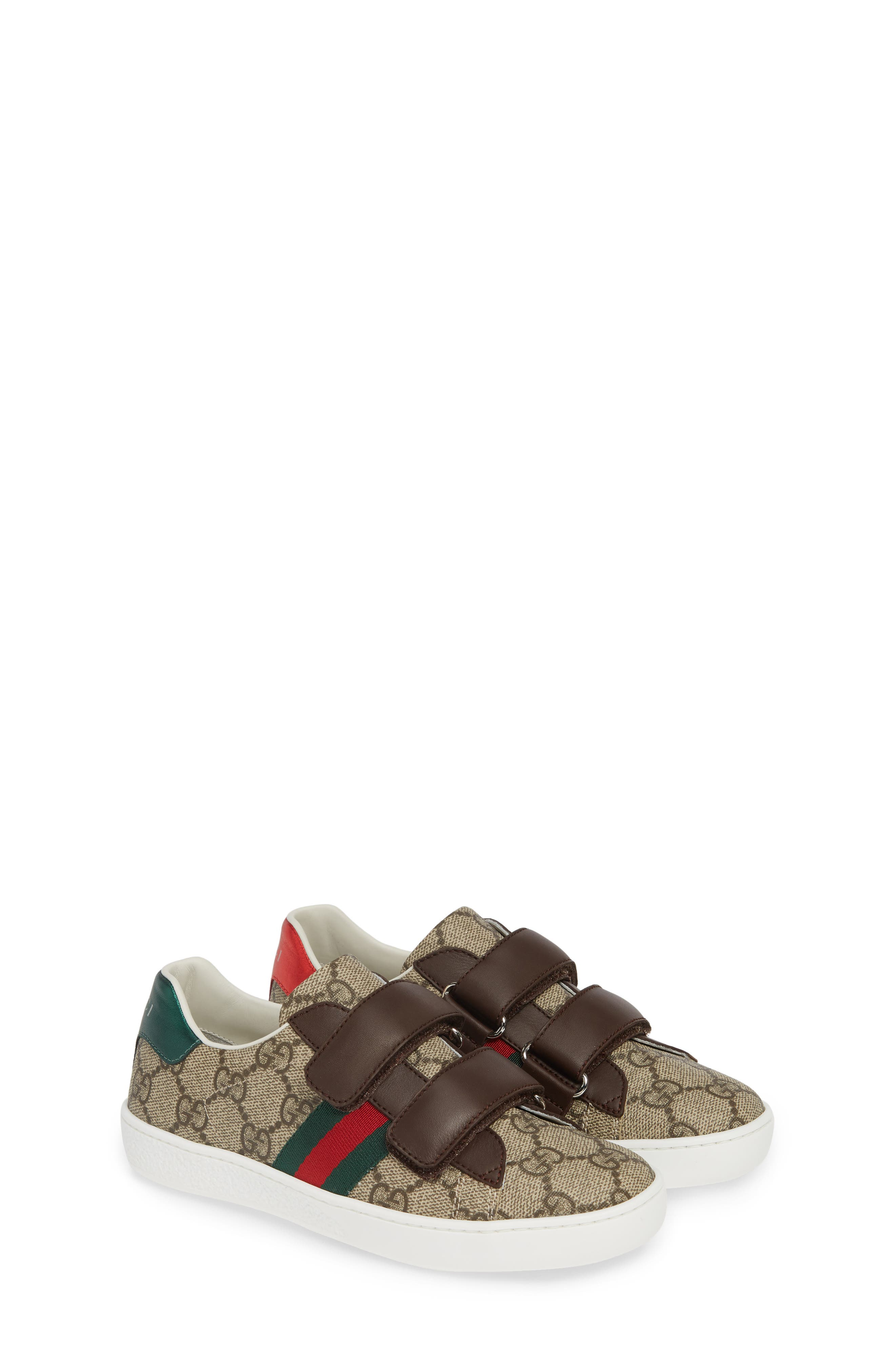GUCCI, New Ace Monogram Sneaker, Alternate thumbnail 2, color, BEIGE