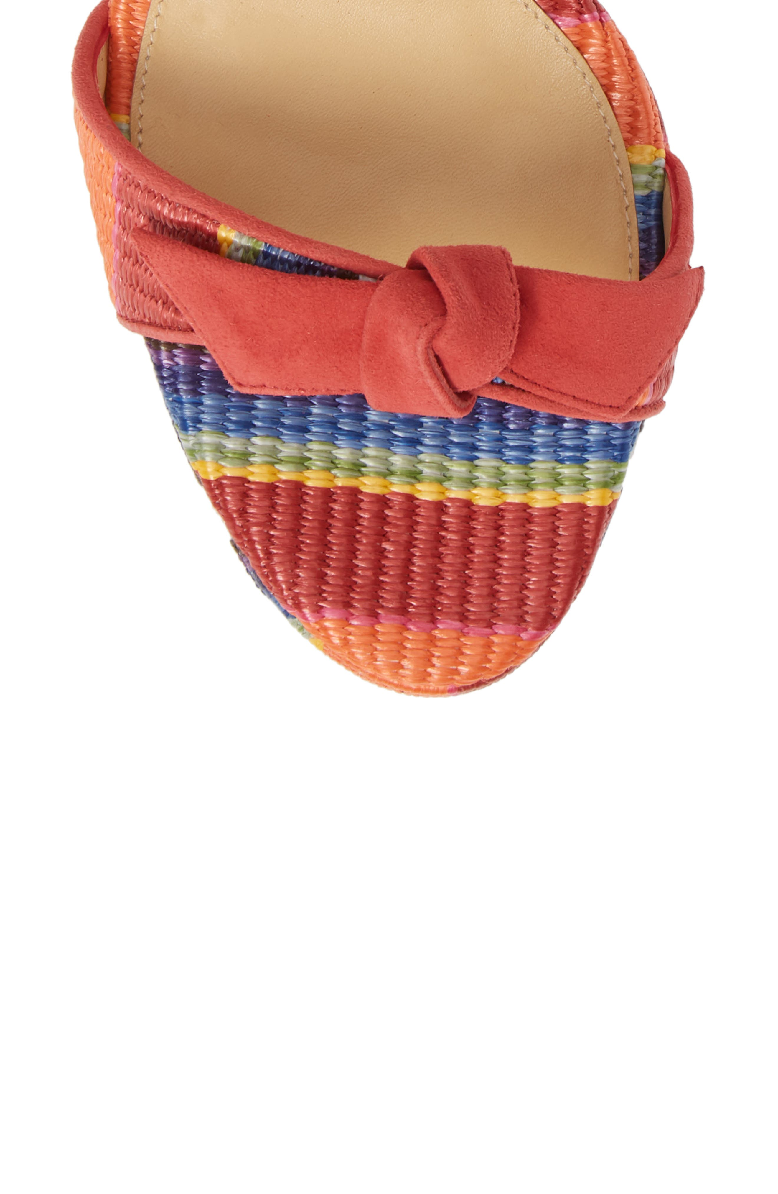 ALEXANDRE BIRMAN, Clarita Platform Sandal, Alternate thumbnail 5, color, CORAL MULTI