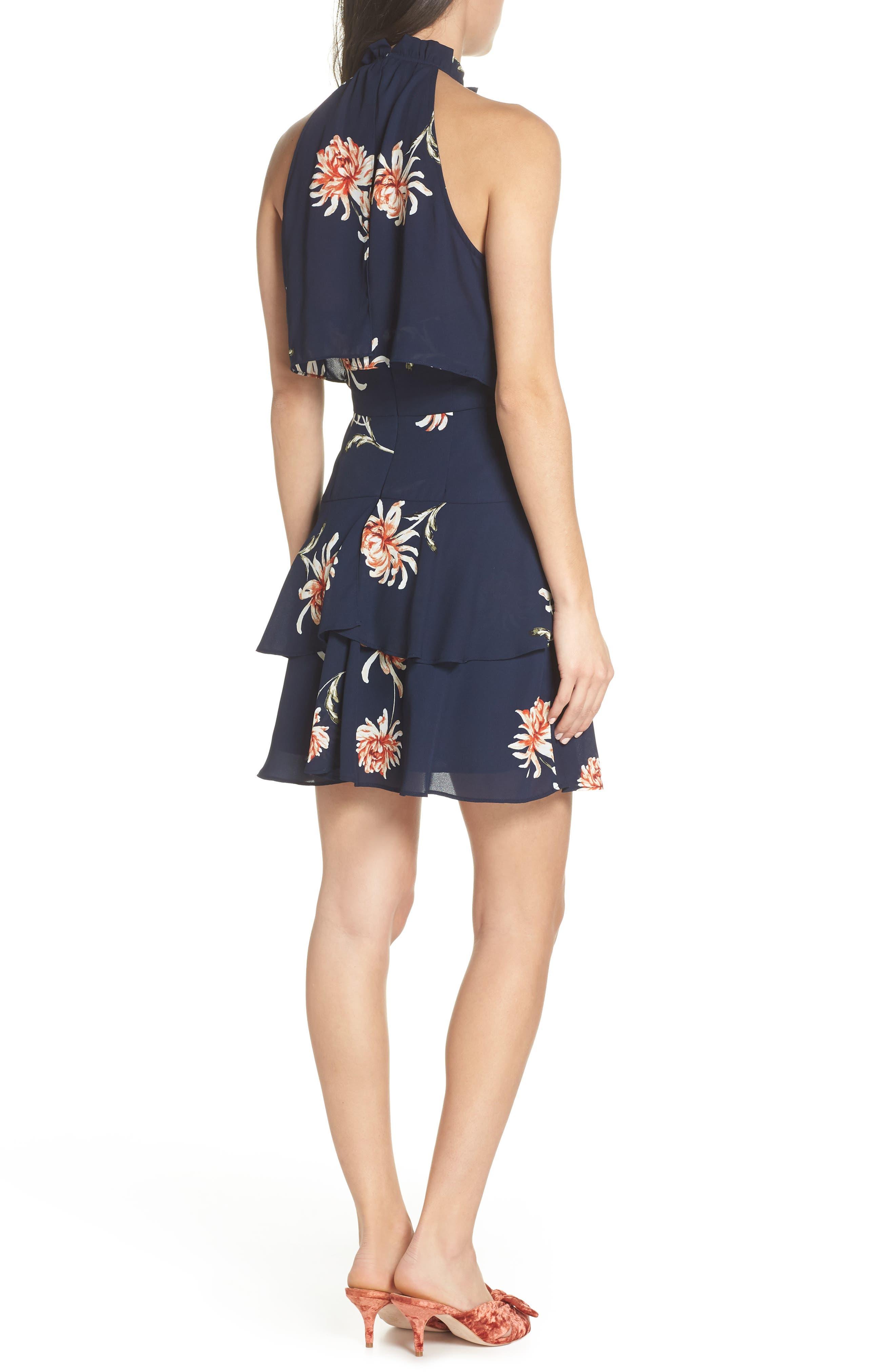 BB DAKOTA, Garden Variety Halter Neck Dress, Alternate thumbnail 2, color, OIL SLICK