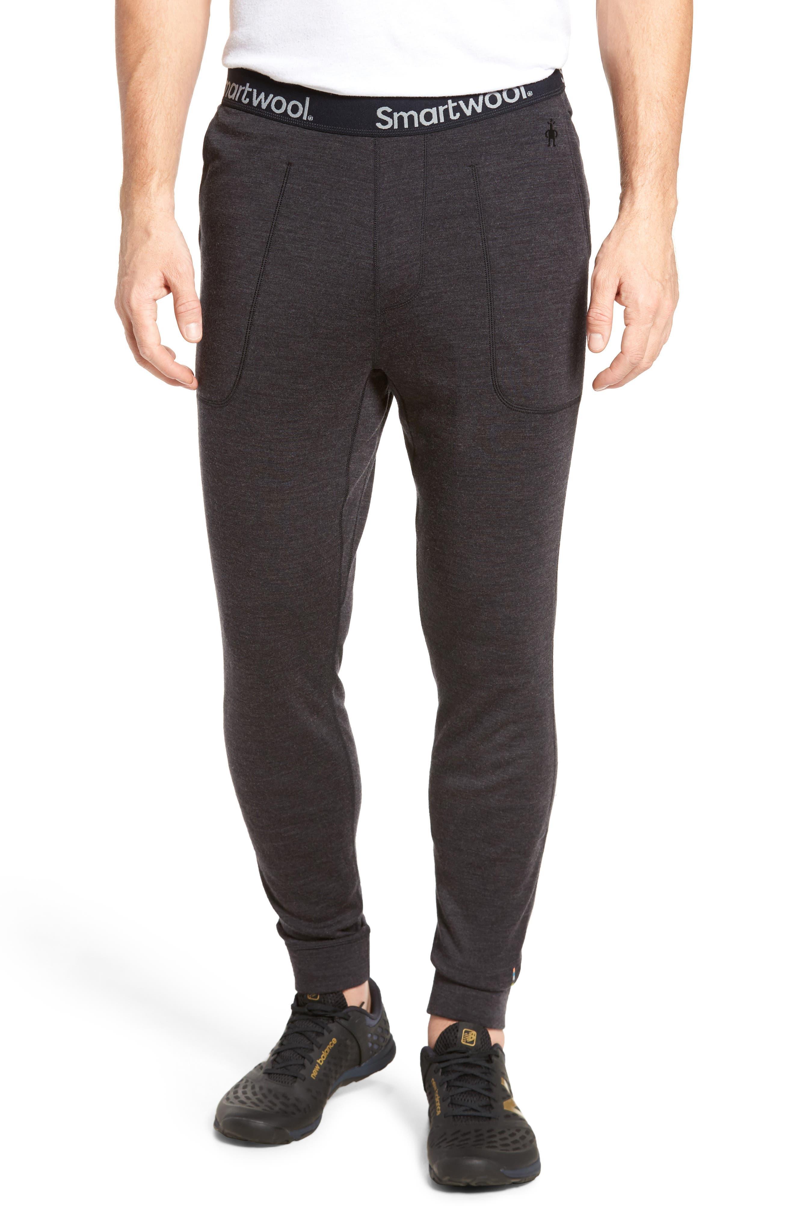 SMARTWOOL, 250 Merino Wool Jogger Pants, Main thumbnail 1, color, CHARCOAL