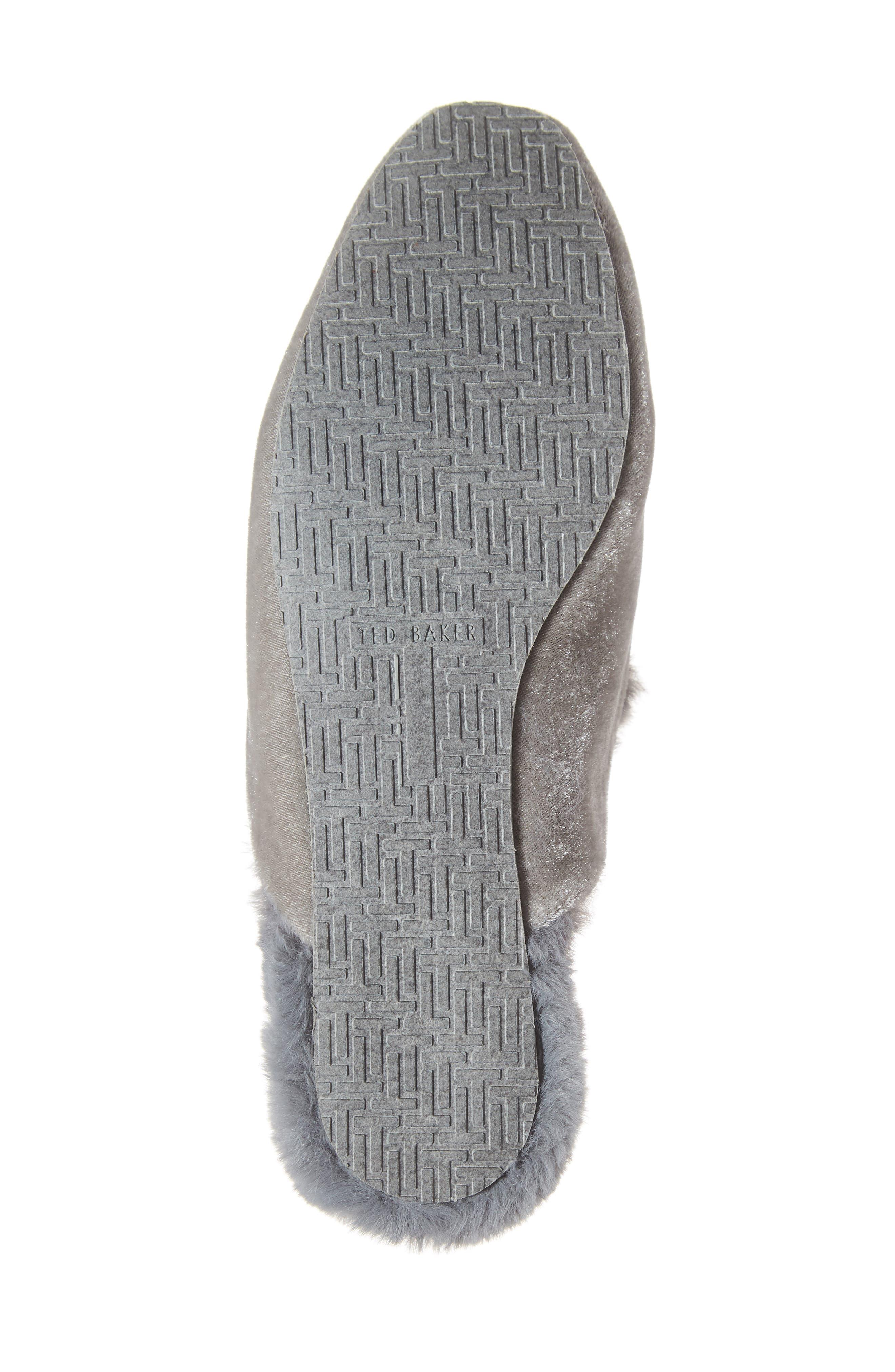 TED BAKER LONDON, Faux Fur Slipper, Alternate thumbnail 6, color, 053