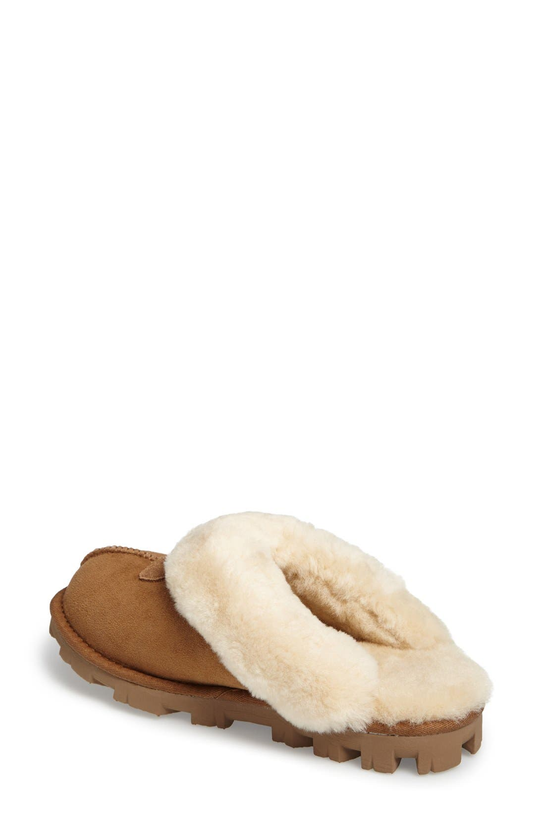 UGG<SUP>®</SUP>, Genuine Shearling Slipper, Alternate thumbnail 11, color, CHESTNUT