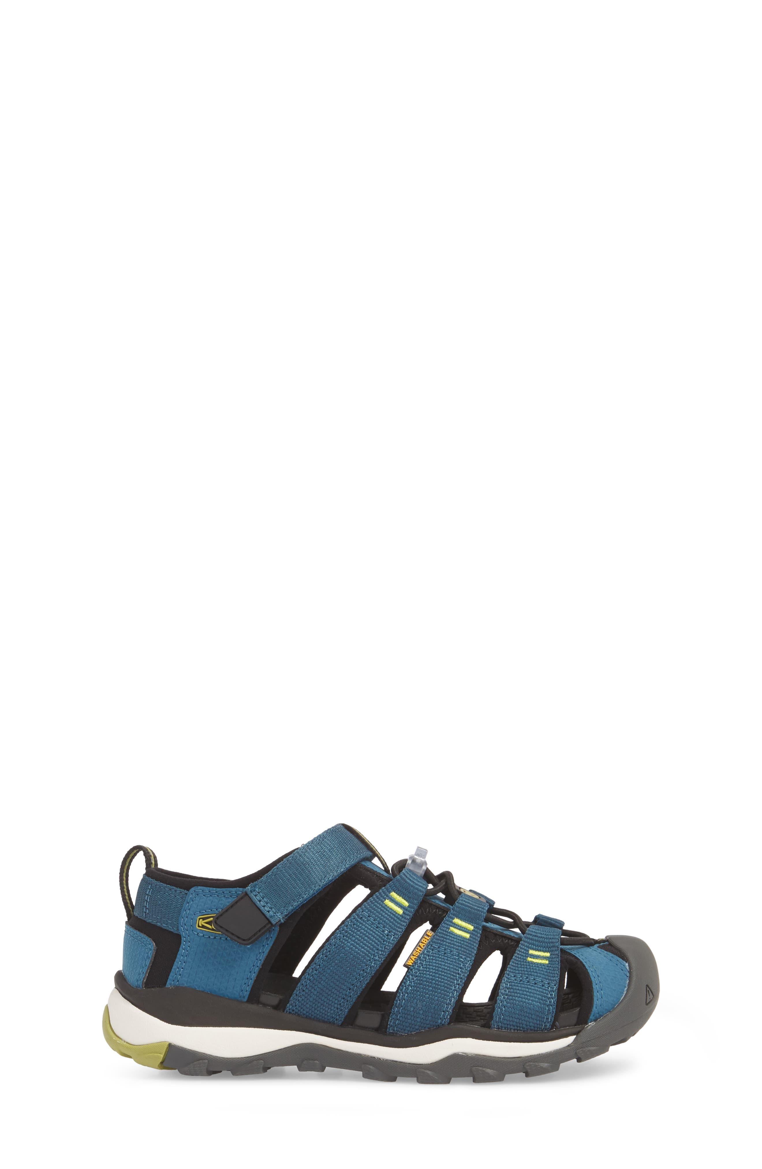KEEN, Newport Neo H2 Water Friendly Sandal, Alternate thumbnail 3, color, LEGION BLUE/ MOSS
