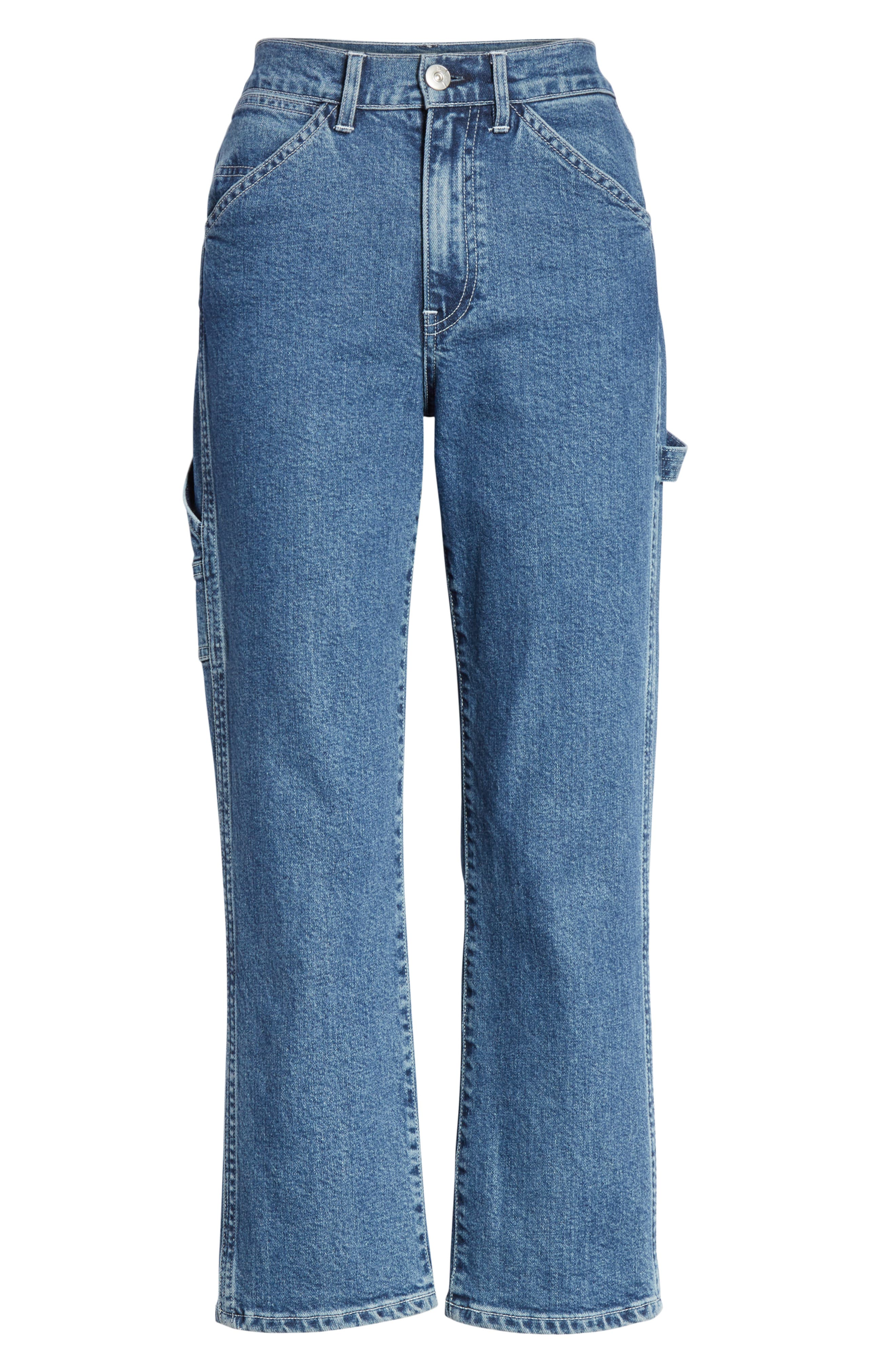 3X1 NYC, Rose Ankle Carpenter Jeans, Alternate thumbnail 7, color, HESTER
