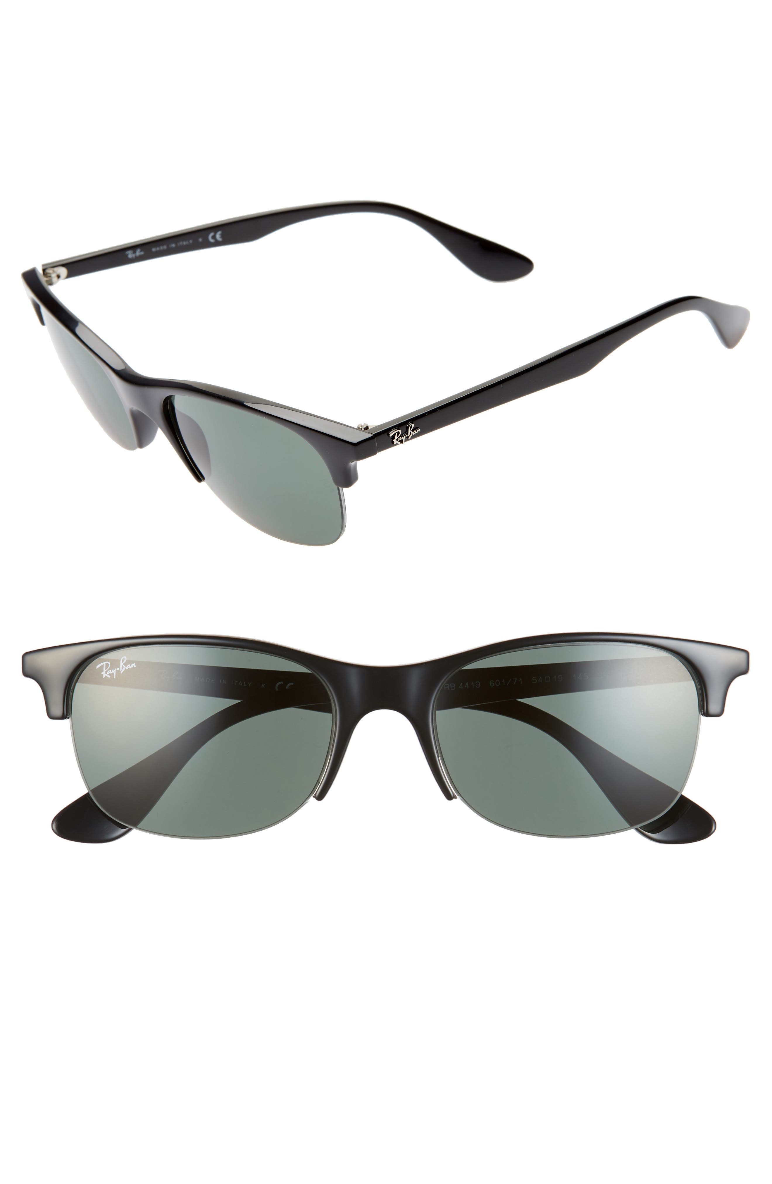 Ray-Ban 5m Clubmaster Sunglasses - Black Solid