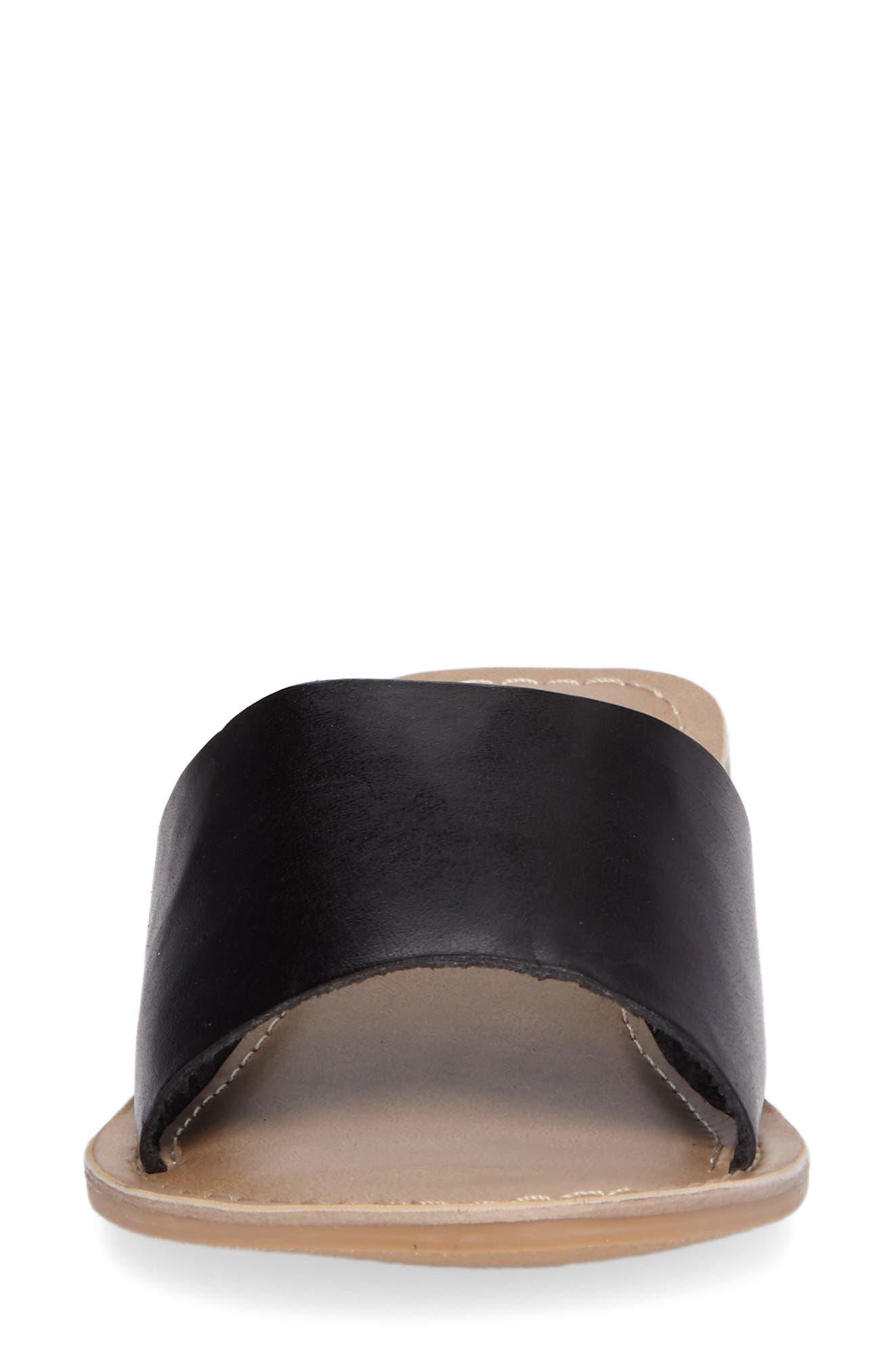 COCONUTS BY MATISSE, Cabana Genuine Calf Hair Slide Sandal, Alternate thumbnail 4, color, 001