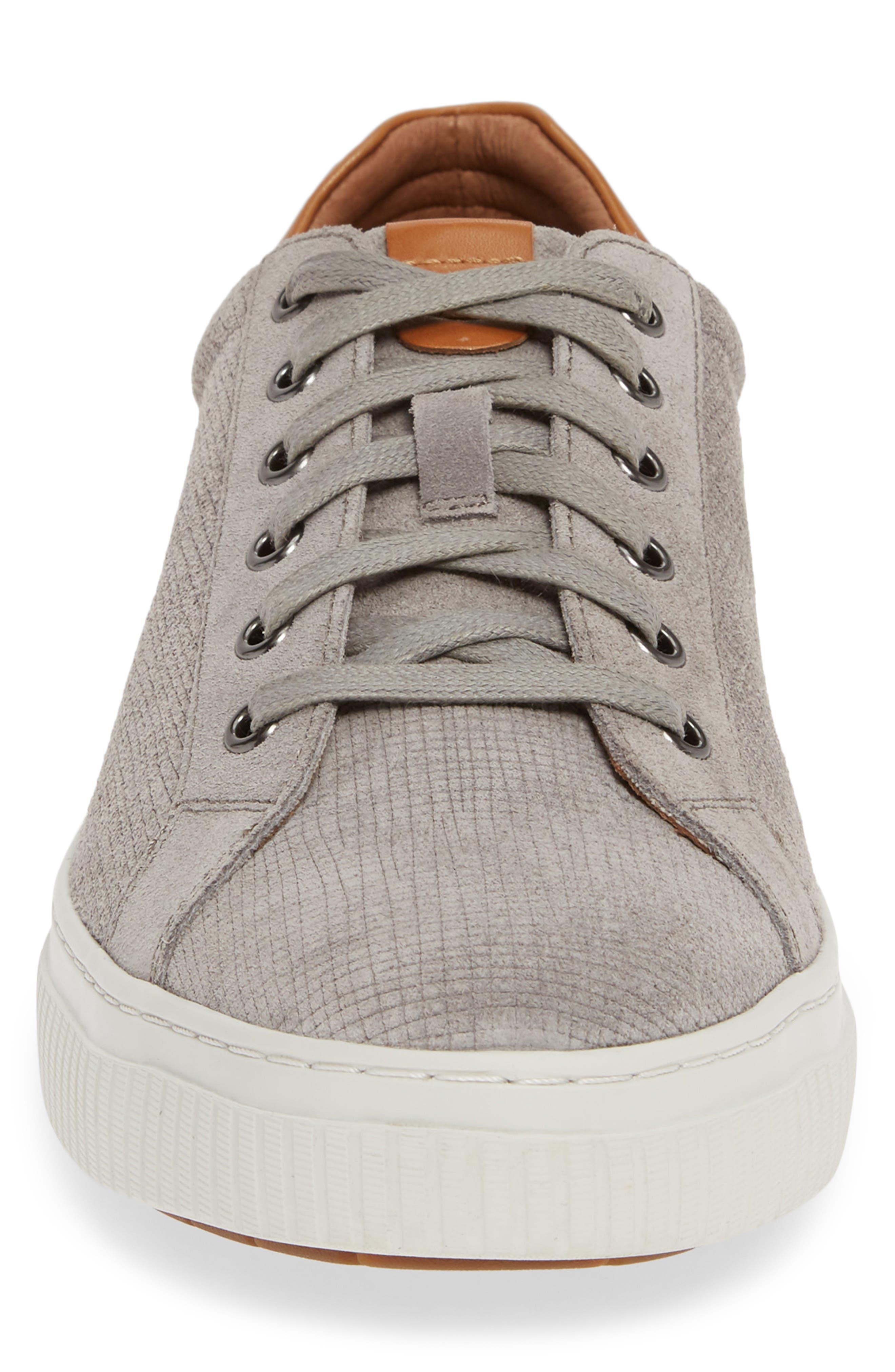 J&M 1850, Toliver Low Top Sneaker, Alternate thumbnail 4, color, GREY SUEDE
