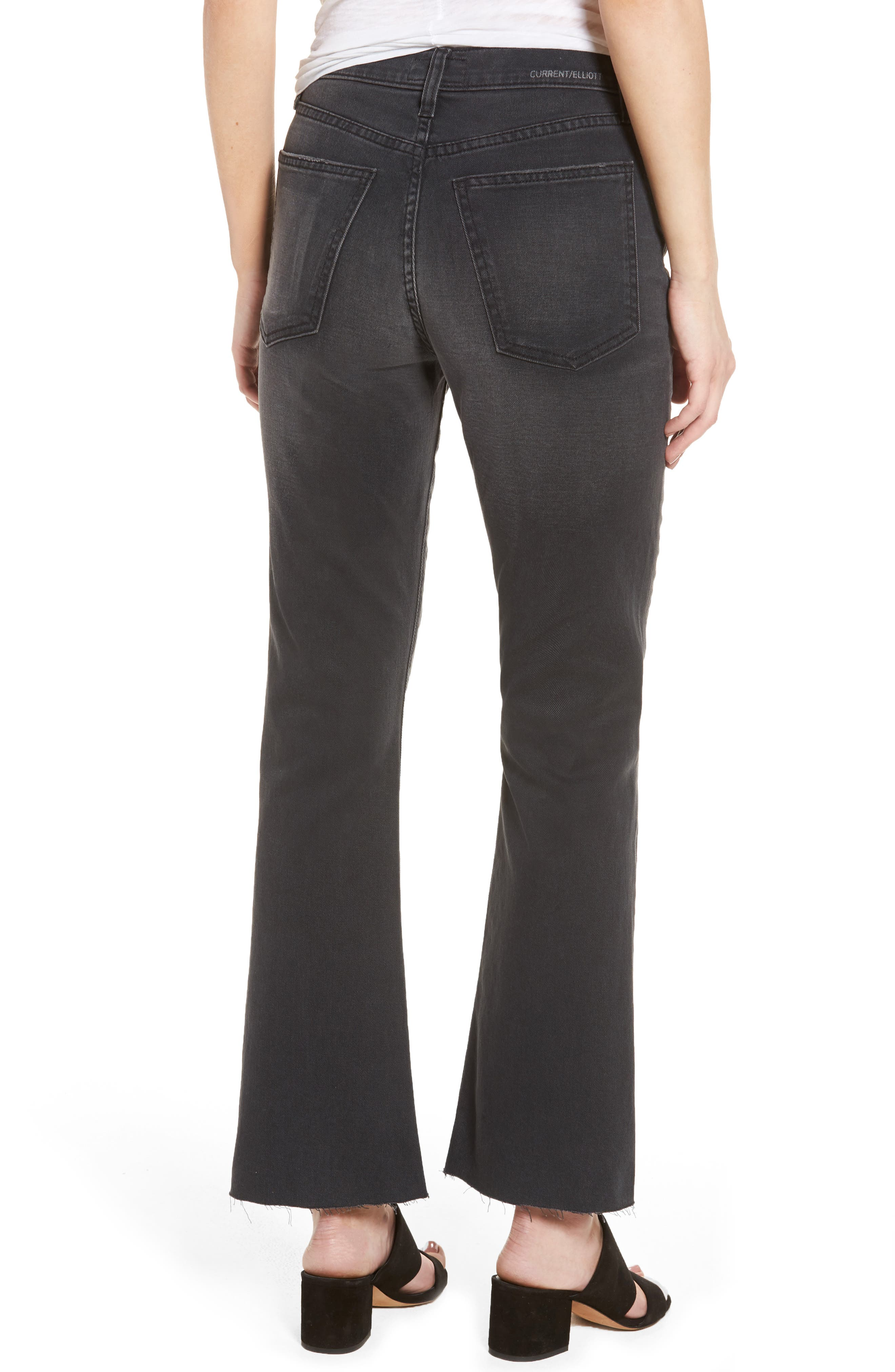 CURRENT/ELLIOTT, The Kick High Waist Crop Flare Jeans, Alternate thumbnail 2, color, 017