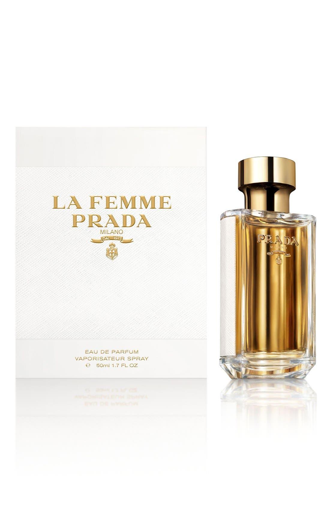 PRADA, La Femme Prada Eau de Parfum, Alternate thumbnail 9, color, NO COLOR