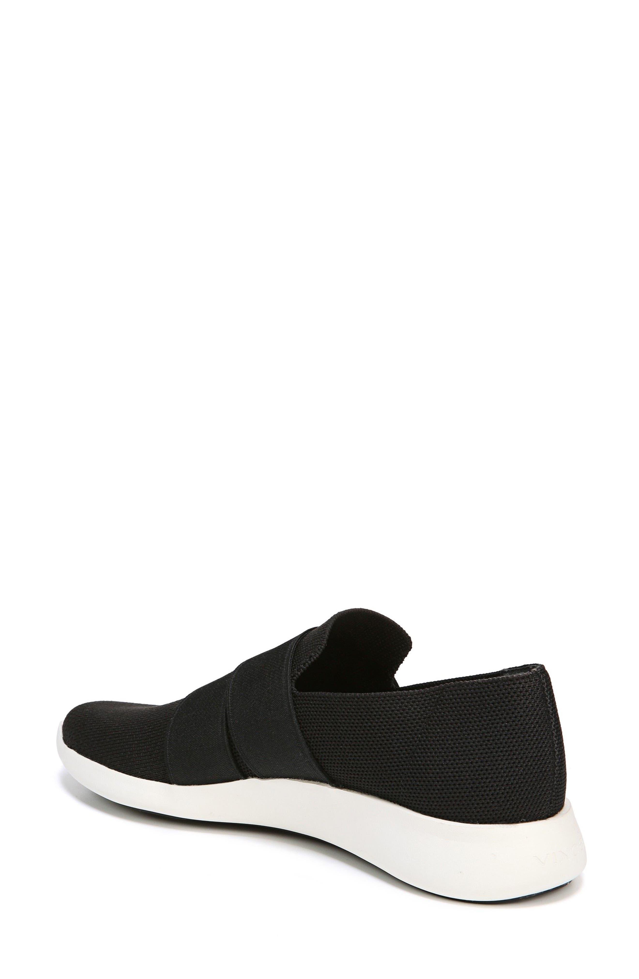 VINCE, Aston Slip-On Sneaker, Alternate thumbnail 2, color, BLACK SOLID KNIT