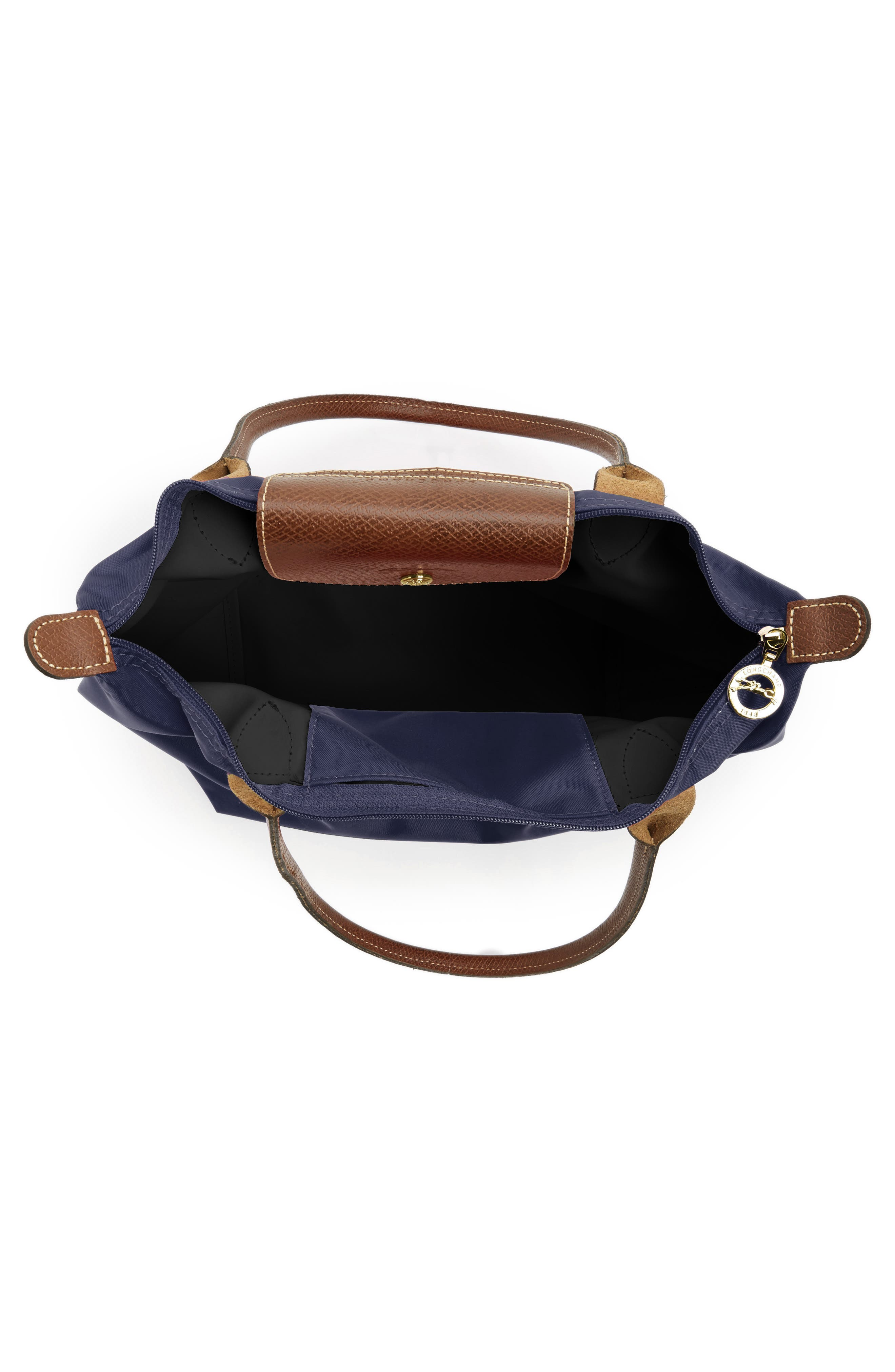 LONGCHAMP, 'Small Le Pliage' Tote, Alternate thumbnail 4, color, NEW NAVY