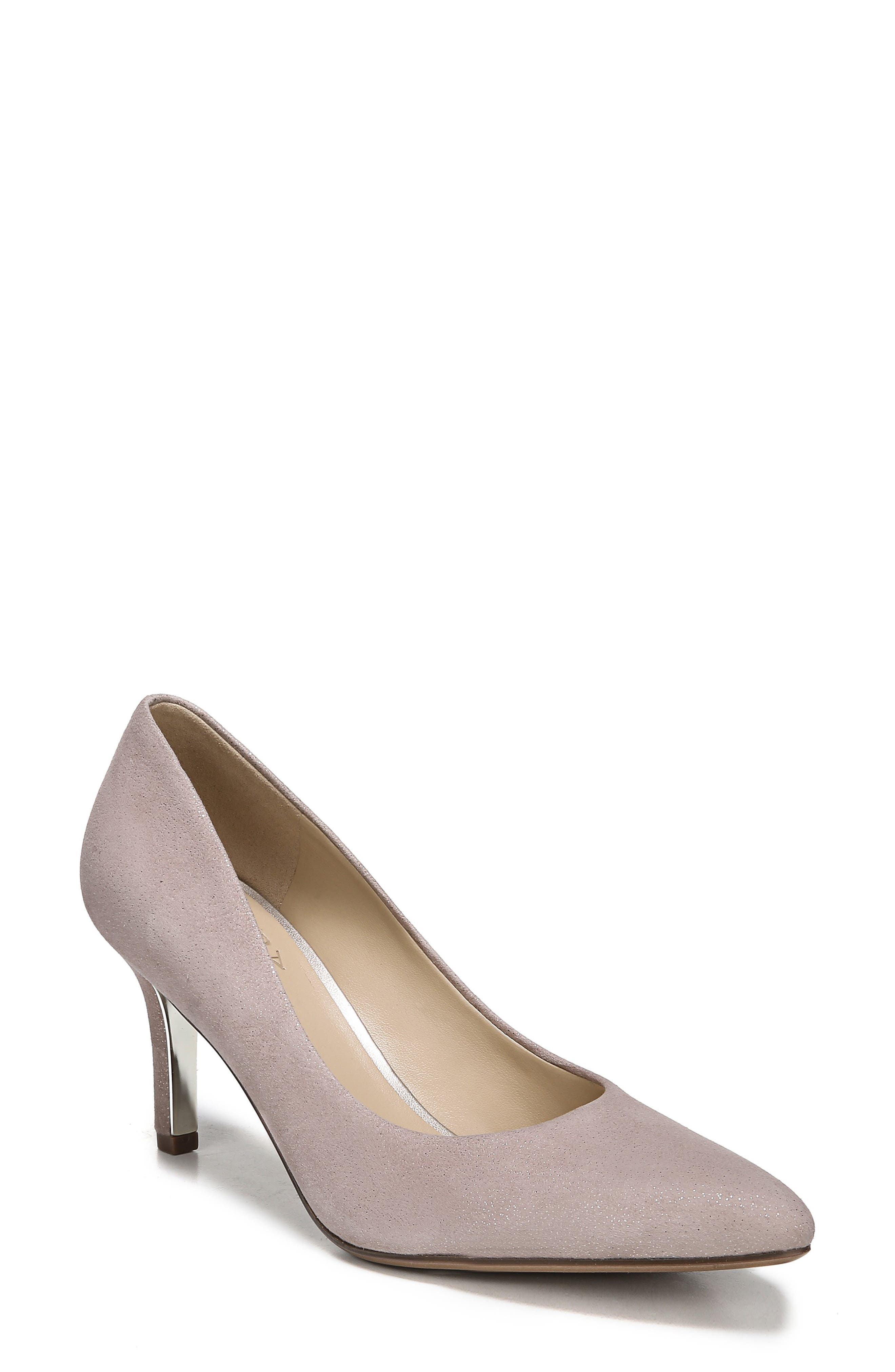 NATURALIZER Natalie Pump, Main, color, TAUPE GLITTER DUST SUEDE