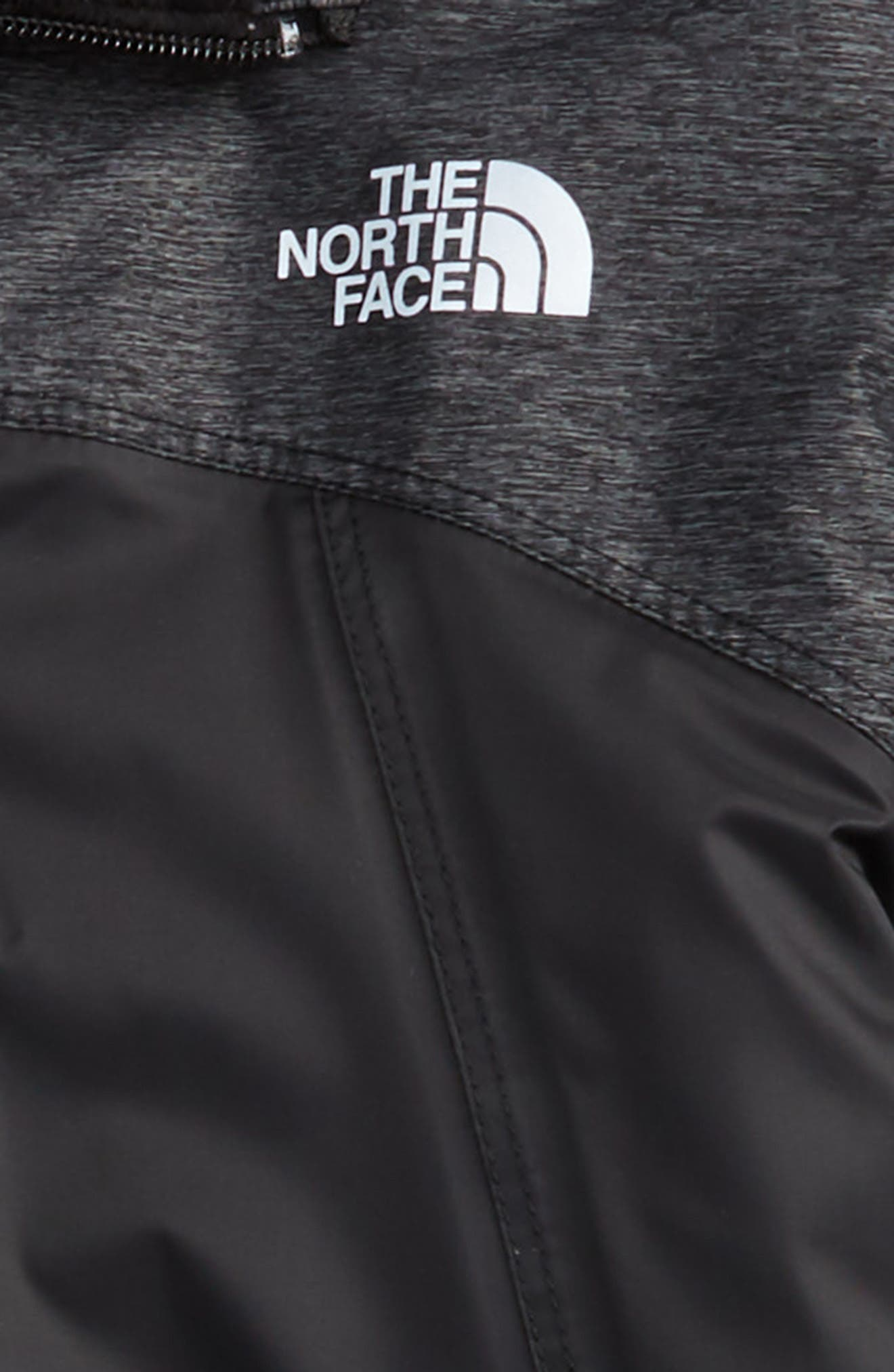 THE NORTH FACE, Warm Storm Hooded Waterproof Jacket, Alternate thumbnail 2, color, TNF BLACK