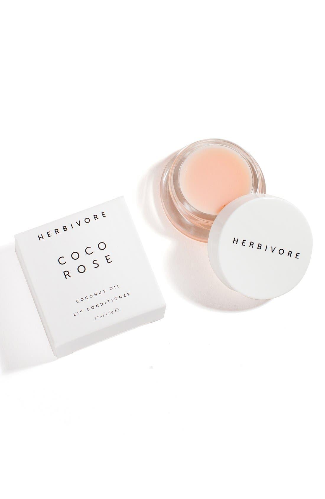HERBIVORE BOTANICALS, Coco Rose Lip Conditioner, Alternate thumbnail 3, color, NONE