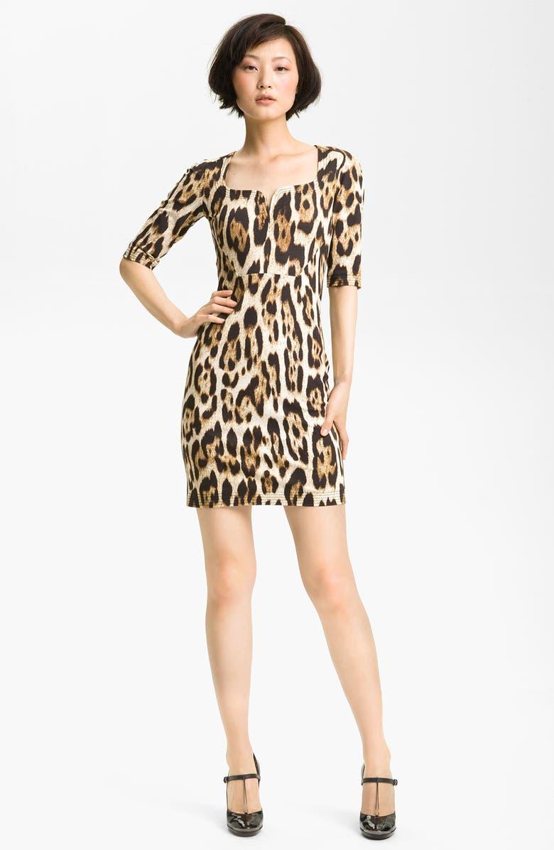 e14bda70eb4be JUST CAVALLI Leopard Print Jersey Dress, Main, color, 278