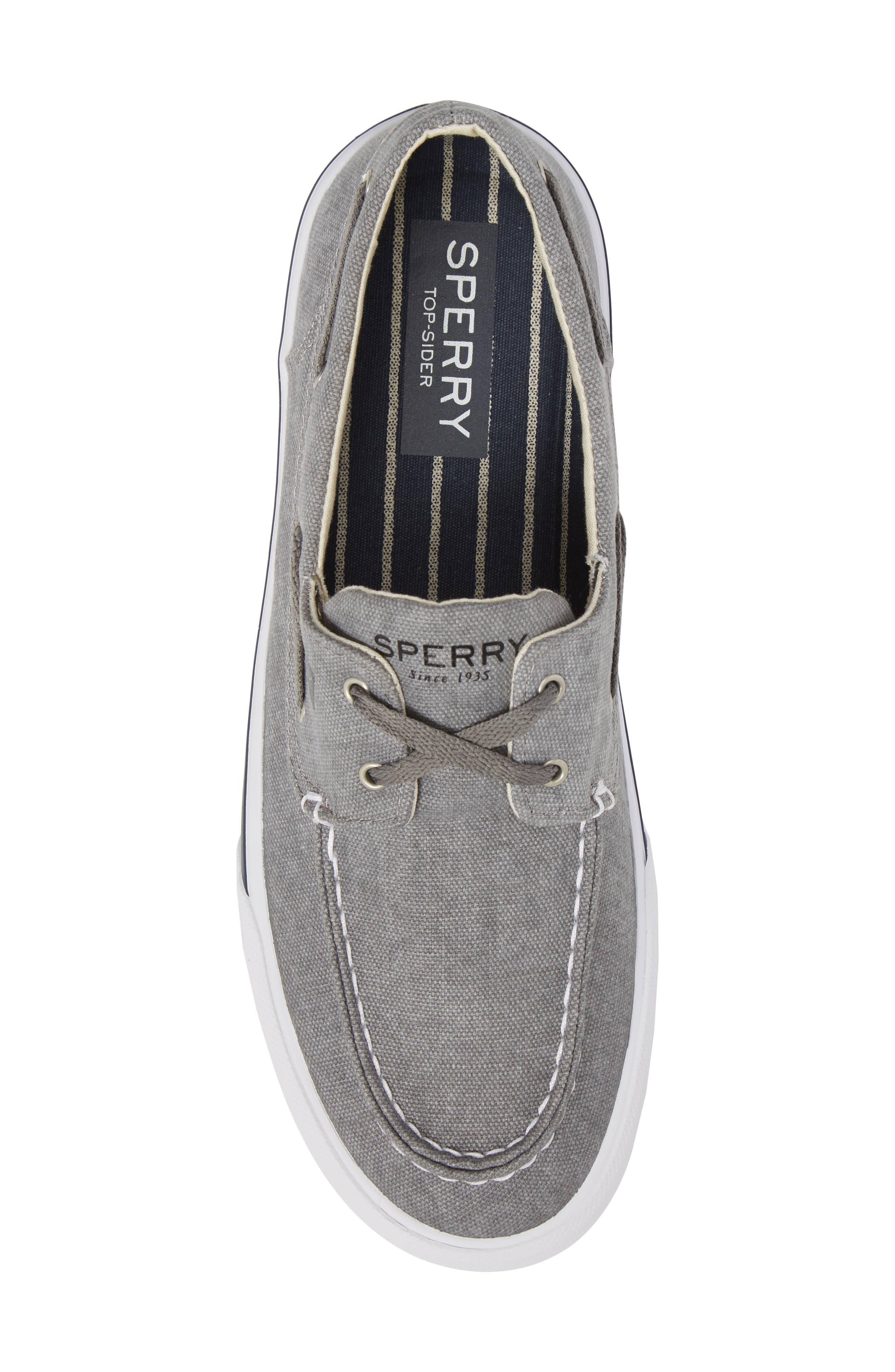 SPERRY, Striper 2 Boat Shoe, Alternate thumbnail 5, color, GREY CANVAS
