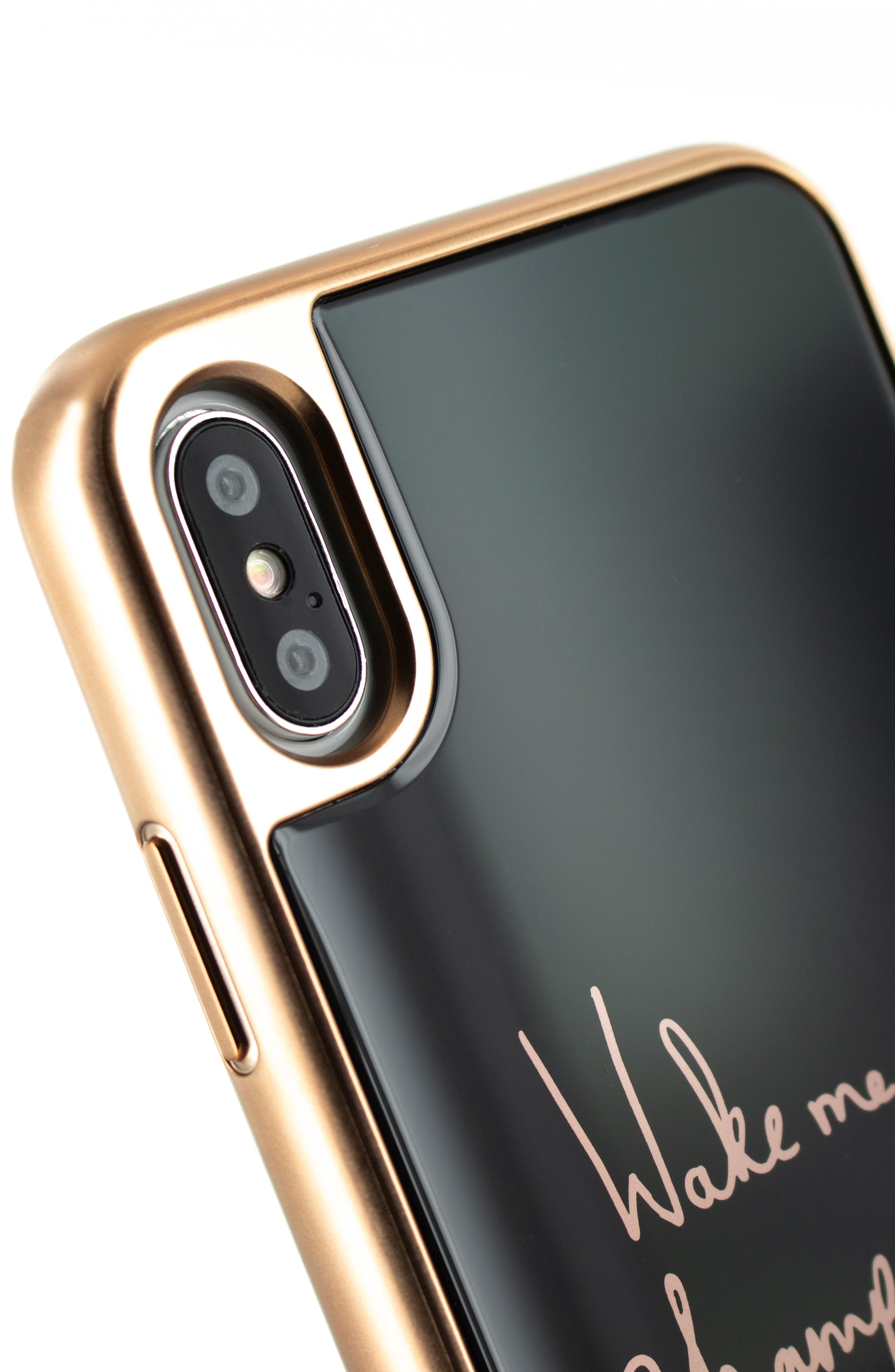TED BAKER LONDON, Champagne iPhone X/Xs/Xs Max & XR Case, Alternate thumbnail 3, color, BLACK