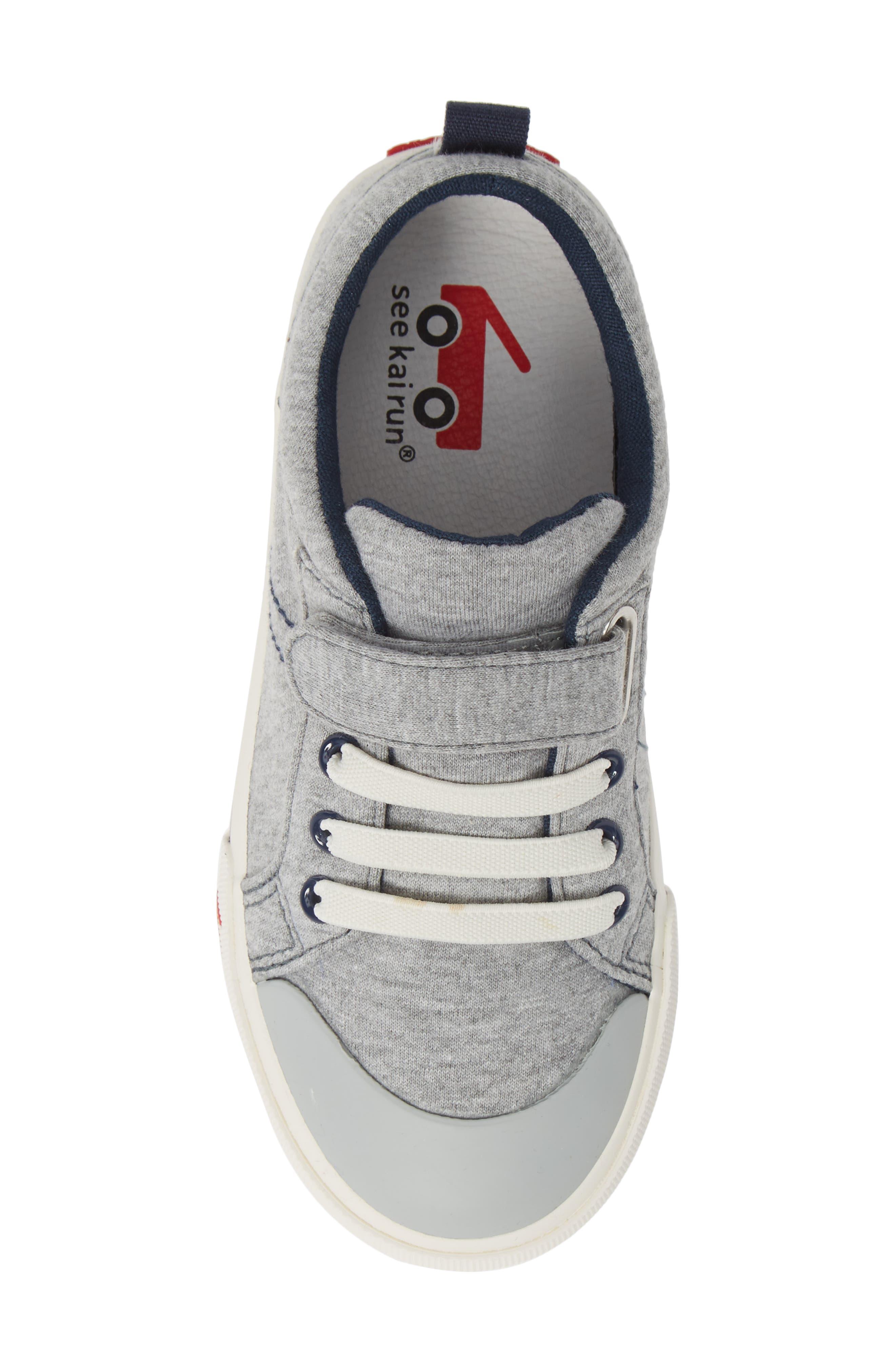 SEE KAI RUN, 'Tanner' Sneaker, Alternate thumbnail 5, color, GRAY/ BLUE JERSEY