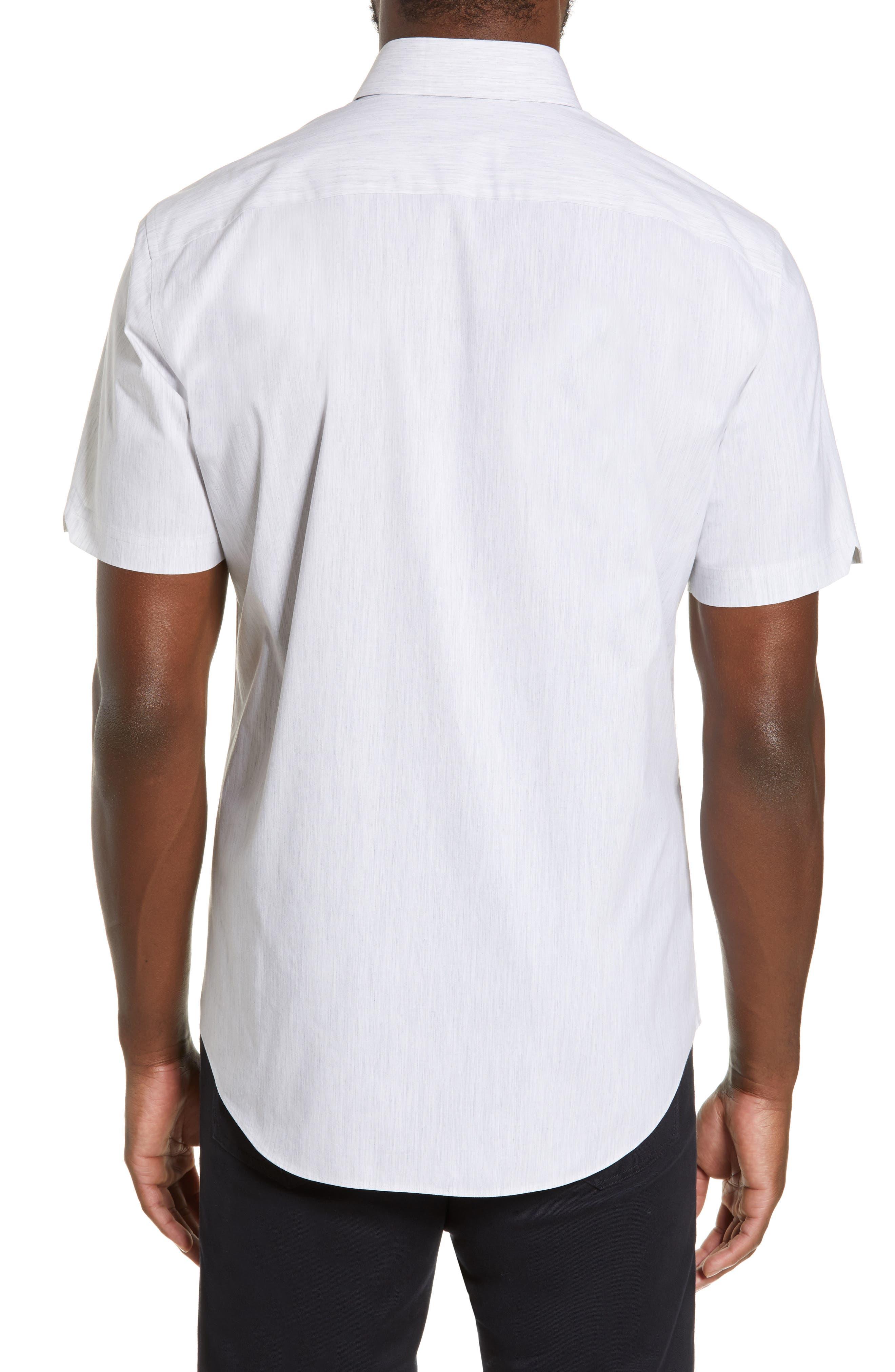 ZACHARY PRELL, Baumann Regular Fit Sport Shirt, Alternate thumbnail 3, color, GREY