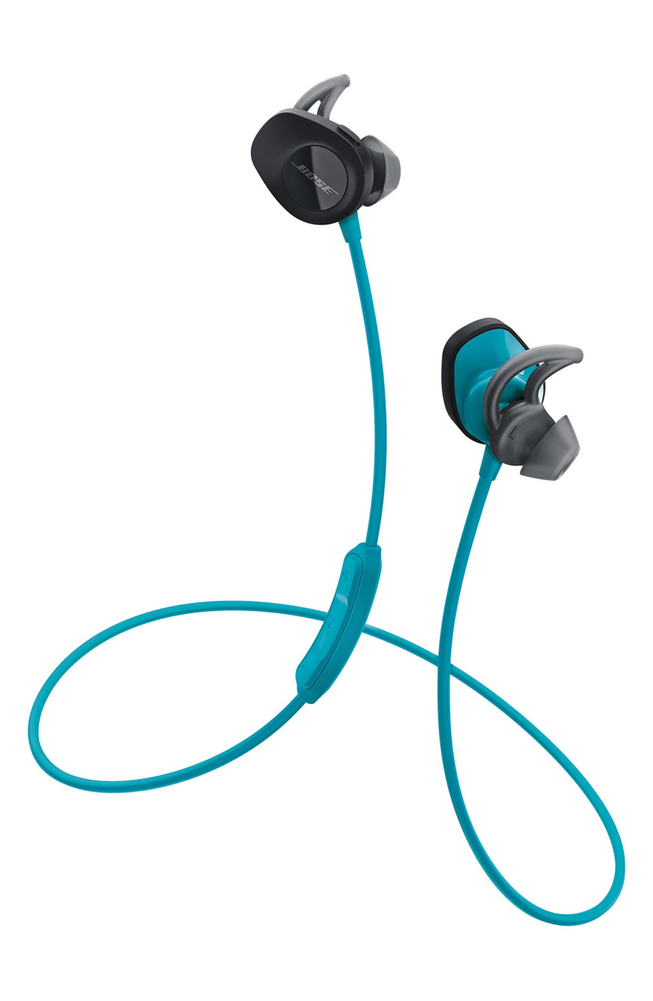 BOSE<SUP>®</SUP>, SoundSport<sup>®</sup> Wireless Headphones, Alternate thumbnail 2, color, AQUA