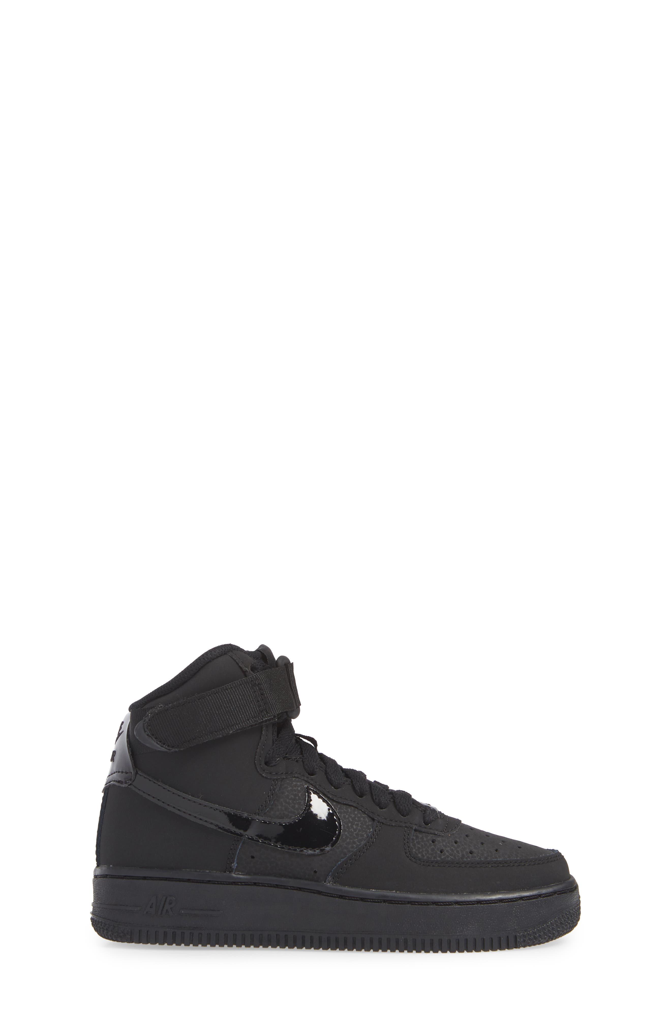NIKE, Air Force 1 High Top Sneaker, Alternate thumbnail 3, color, 001