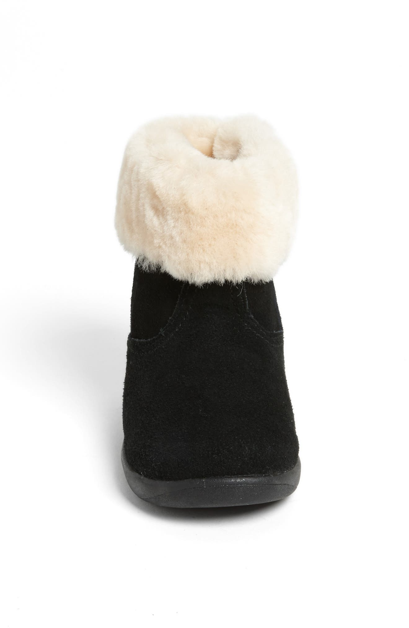 UGG<SUP>®</SUP>, Jorie II Boot, Alternate thumbnail 3, color, BLACK/ BLACK