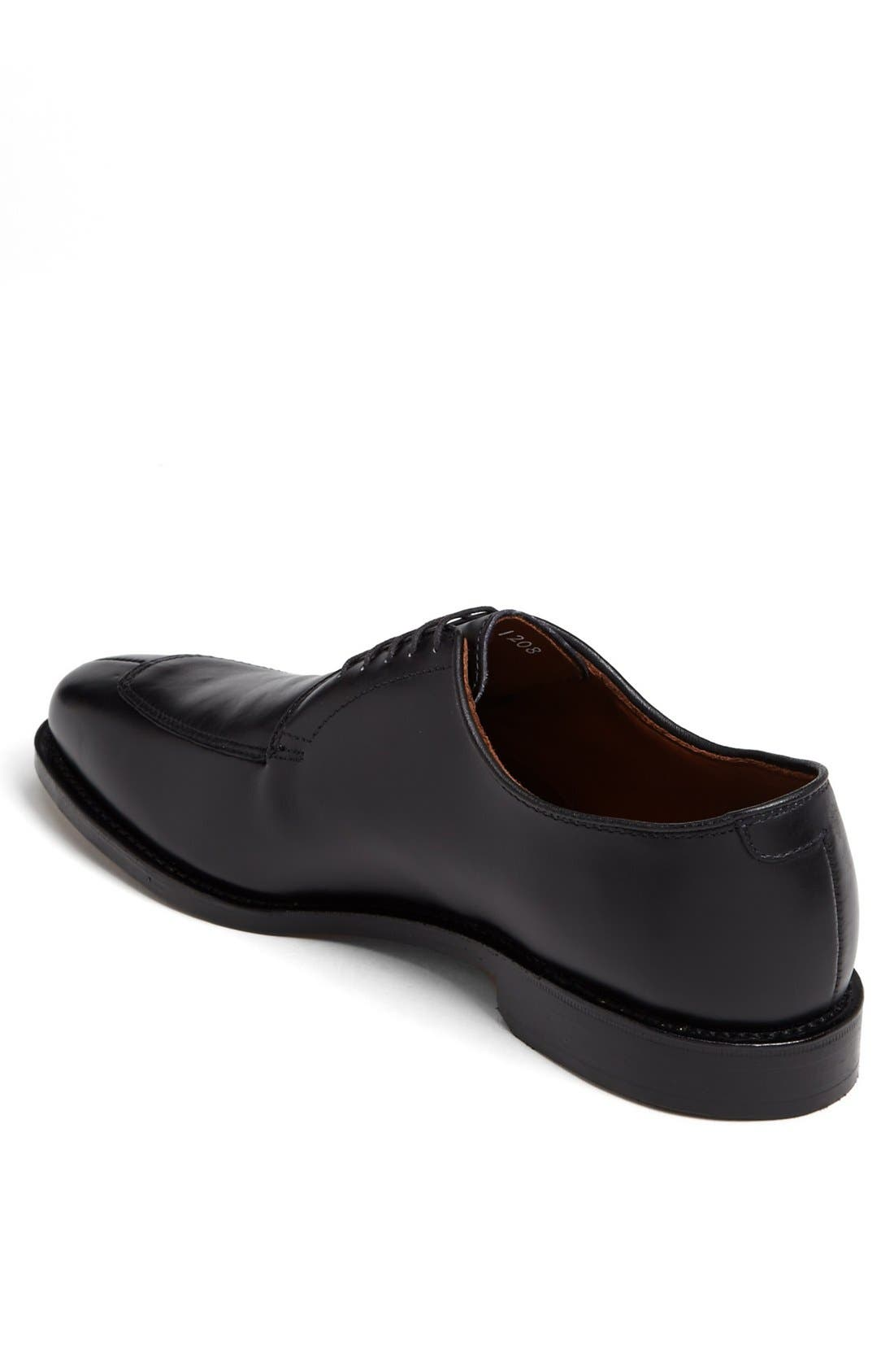ALLEN EDMONDS, Delray Split Toe Derby, Alternate thumbnail 6, color, BLACK