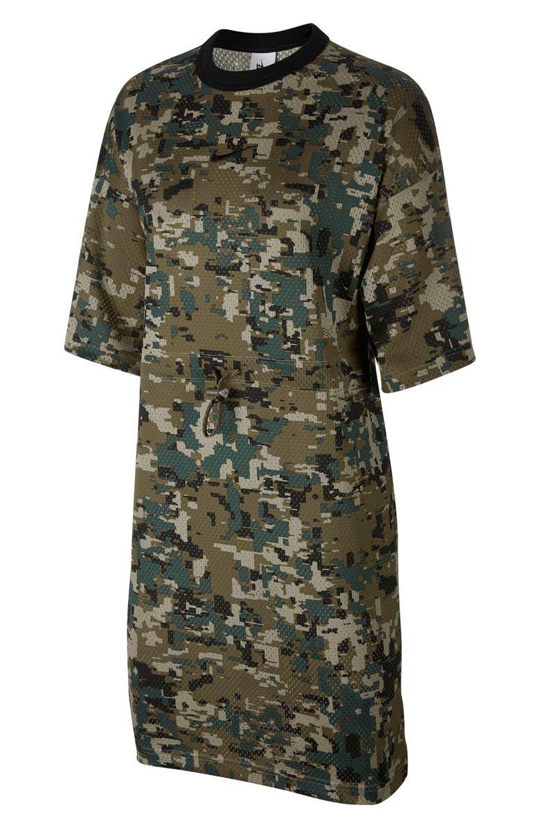 online retailer b249b 03222 NIKE NikeLab Collection Women s Mesh Dress, Main, color, MEDIUM OLIVE