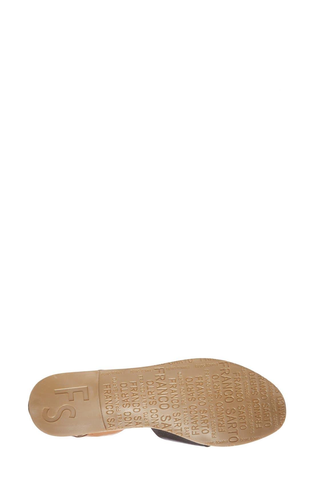 FRANCO SARTO, 'Vivace' Leather d'Orsay Flat, Alternate thumbnail 2, color, 002