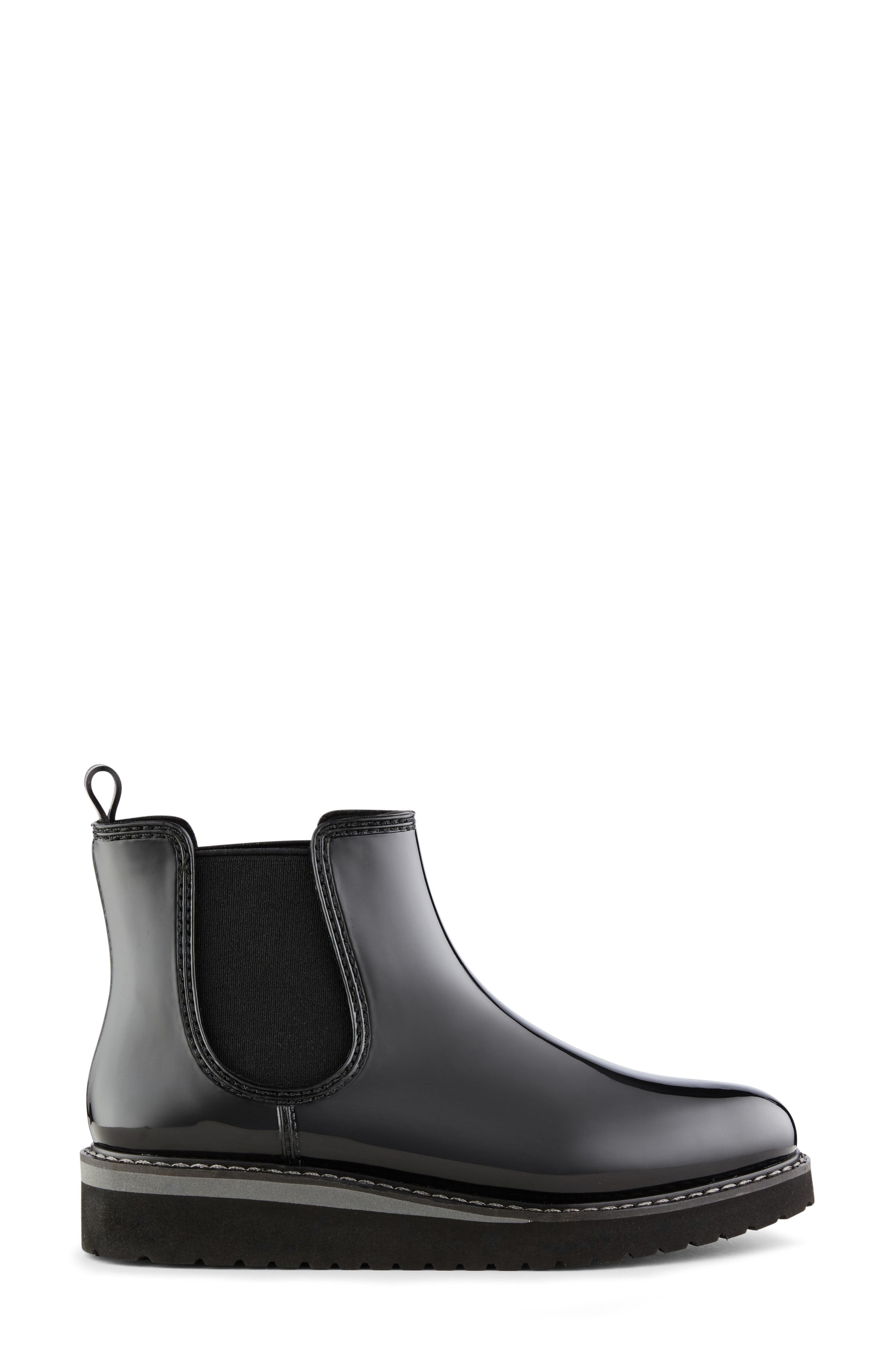 COUGAR, Kensington Chelsea Rain Boot, Alternate thumbnail 2, color, BLACK/ CHARCOAL