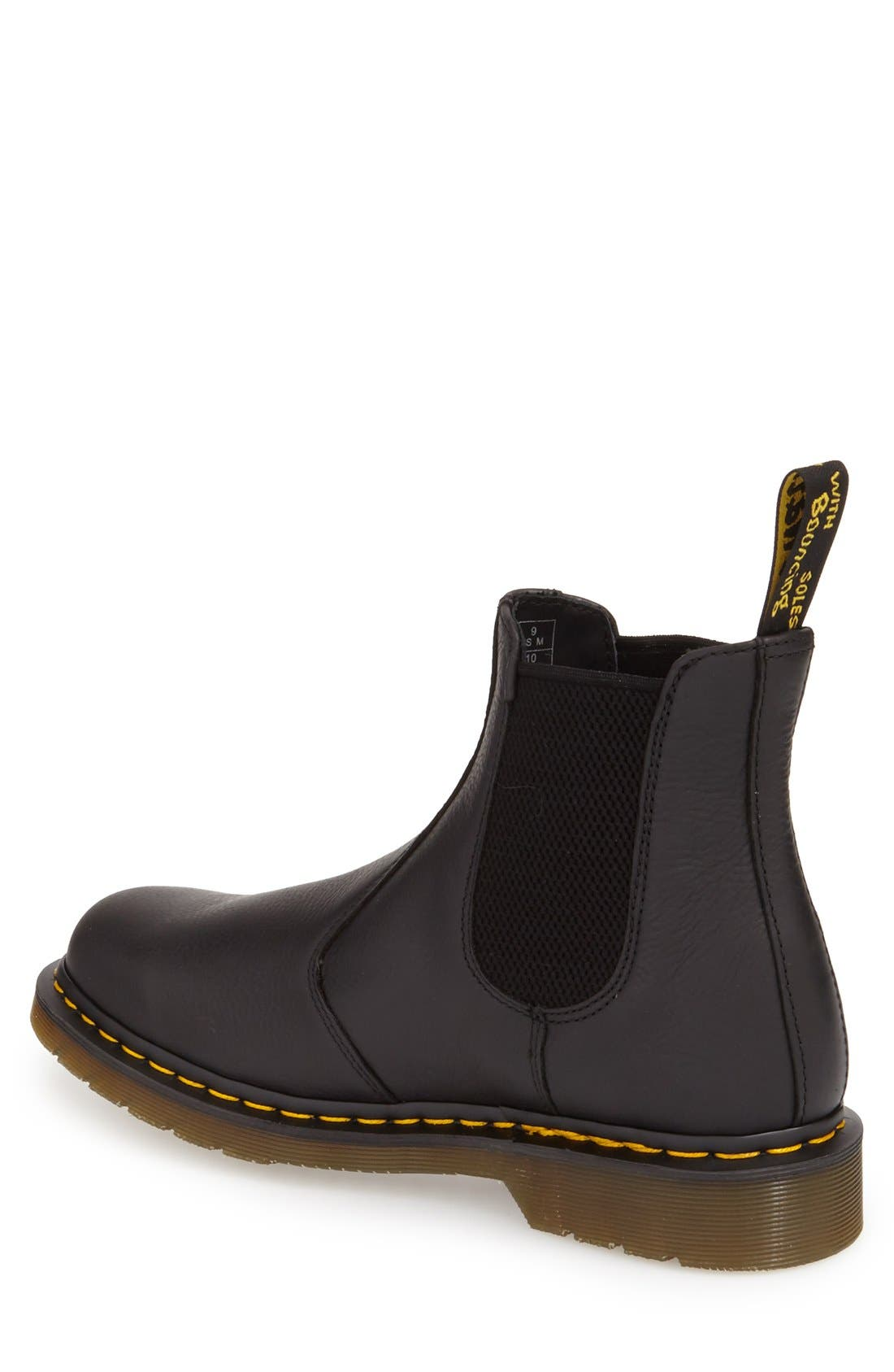 DR. MARTENS, '2976' Chelsea Boot, Alternate thumbnail 3, color, BLACK LEATHER