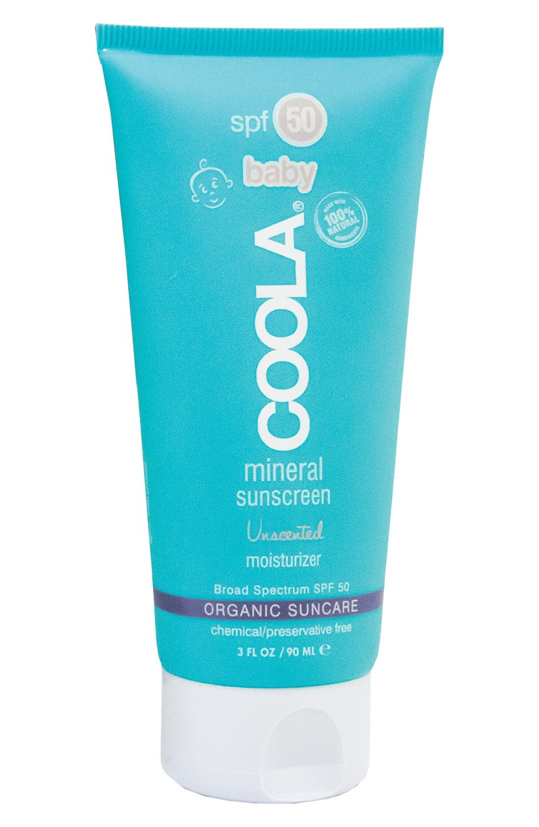 COOLA SUNCARE, COOLA<sup>®</sup> Suncare Unscented Baby Mineral Moisturizer SPF 50, Alternate thumbnail 4, color, NO COLOR
