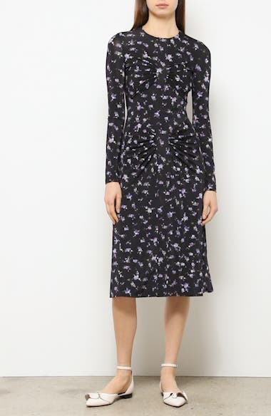 Floral Print Silk Dress, video thumbnail