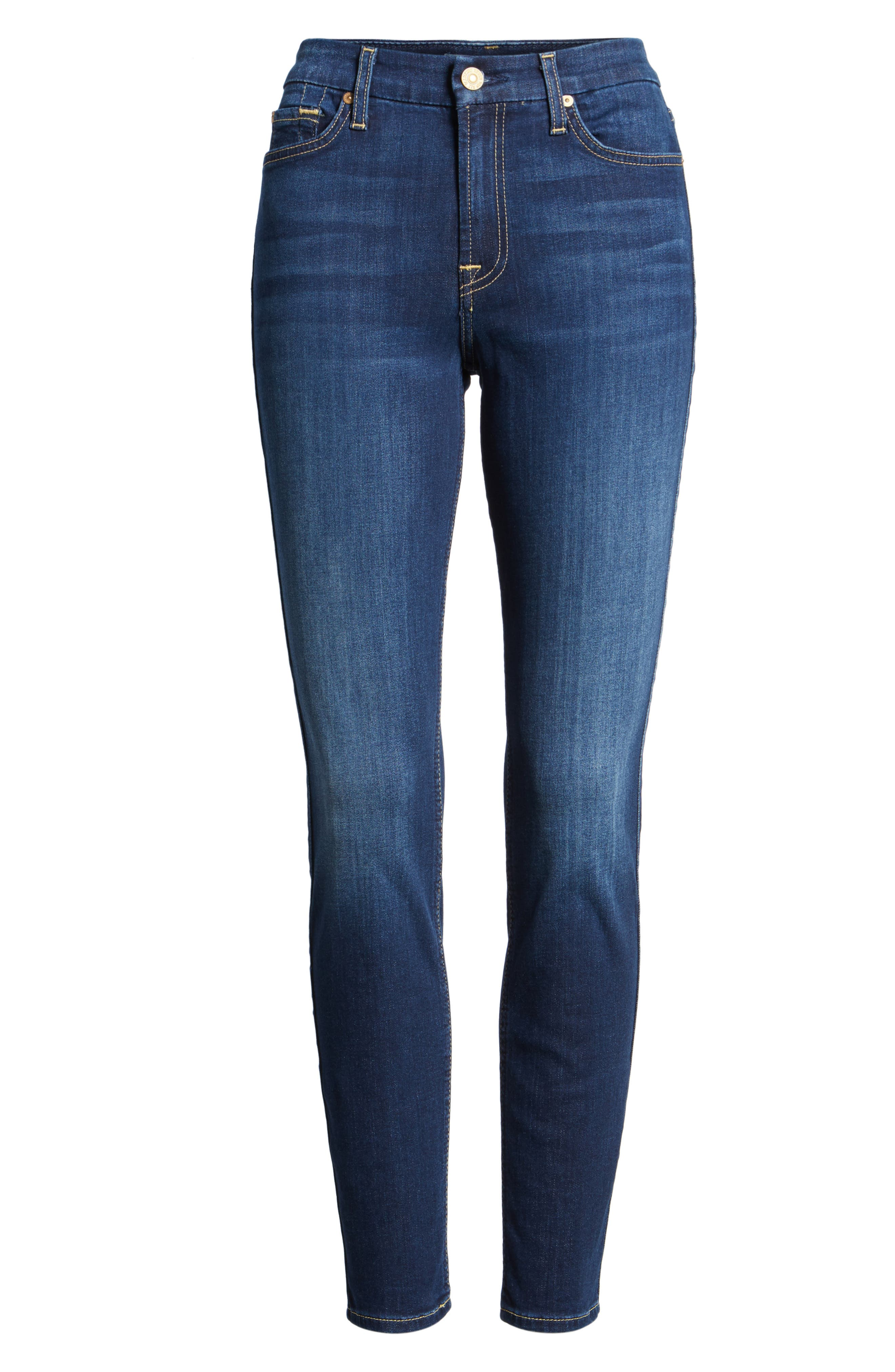 7 FOR ALL MANKIND<SUP>®</SUP>, b(air) Ankle Skinny Jeans, Alternate thumbnail 7, color, 400
