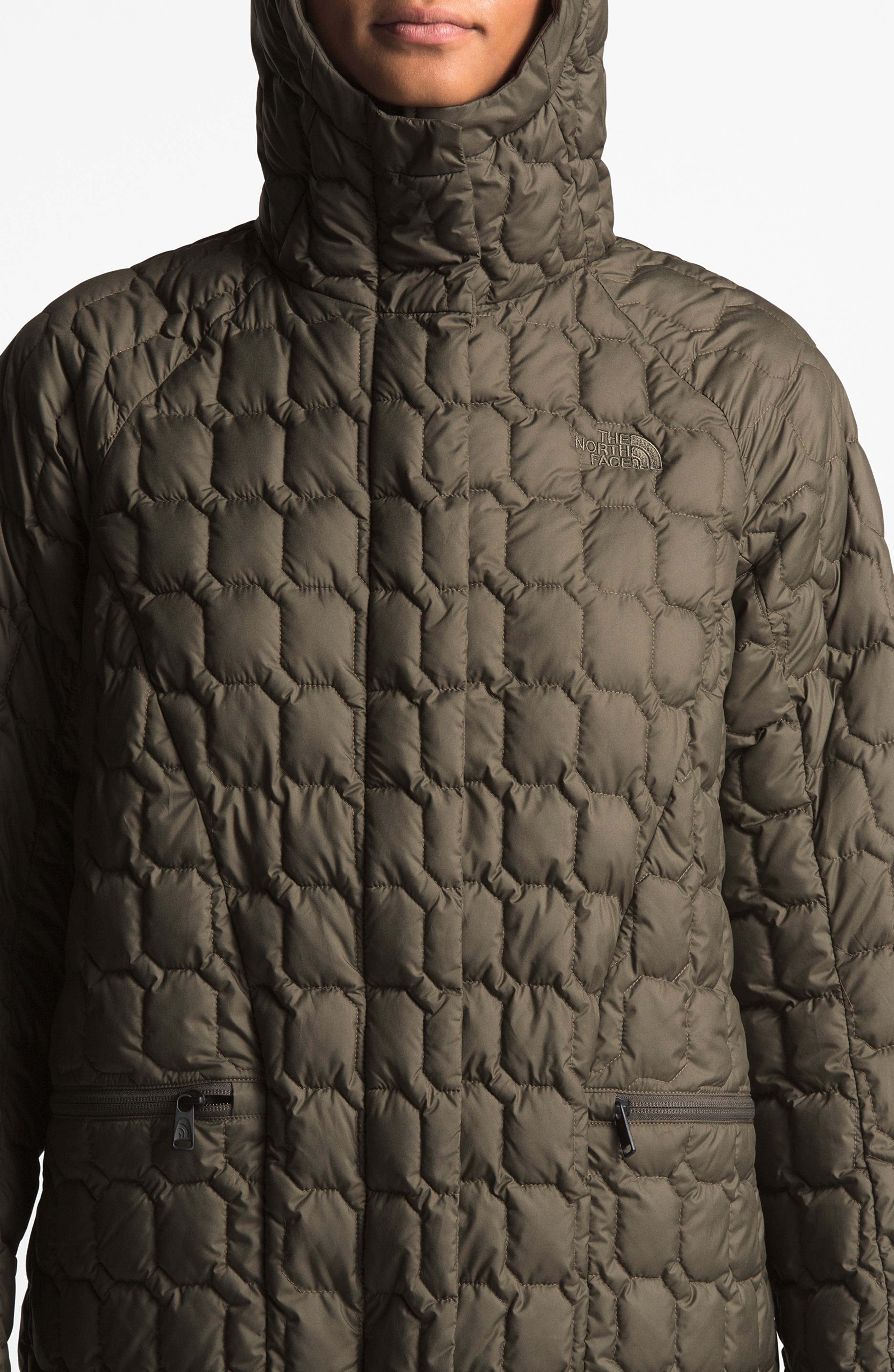 THE NORTH FACE, Thermoball<sup>™</sup> Water Resistant Duster Jacket, Alternate thumbnail 10, color, 301