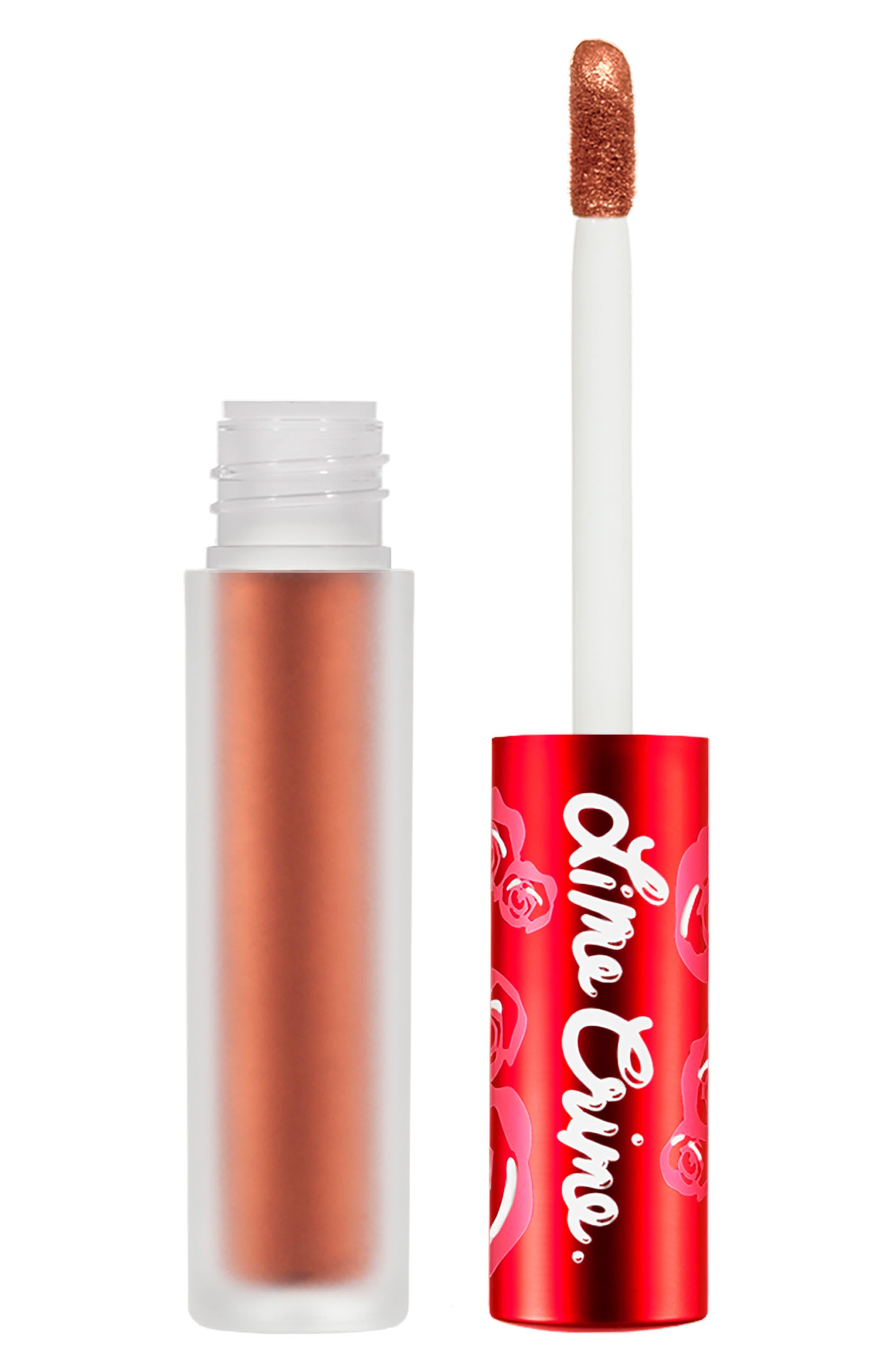 LIME CRIME, Velvetines Metallic Liquid Lipstick, Main thumbnail 1, color, LANA