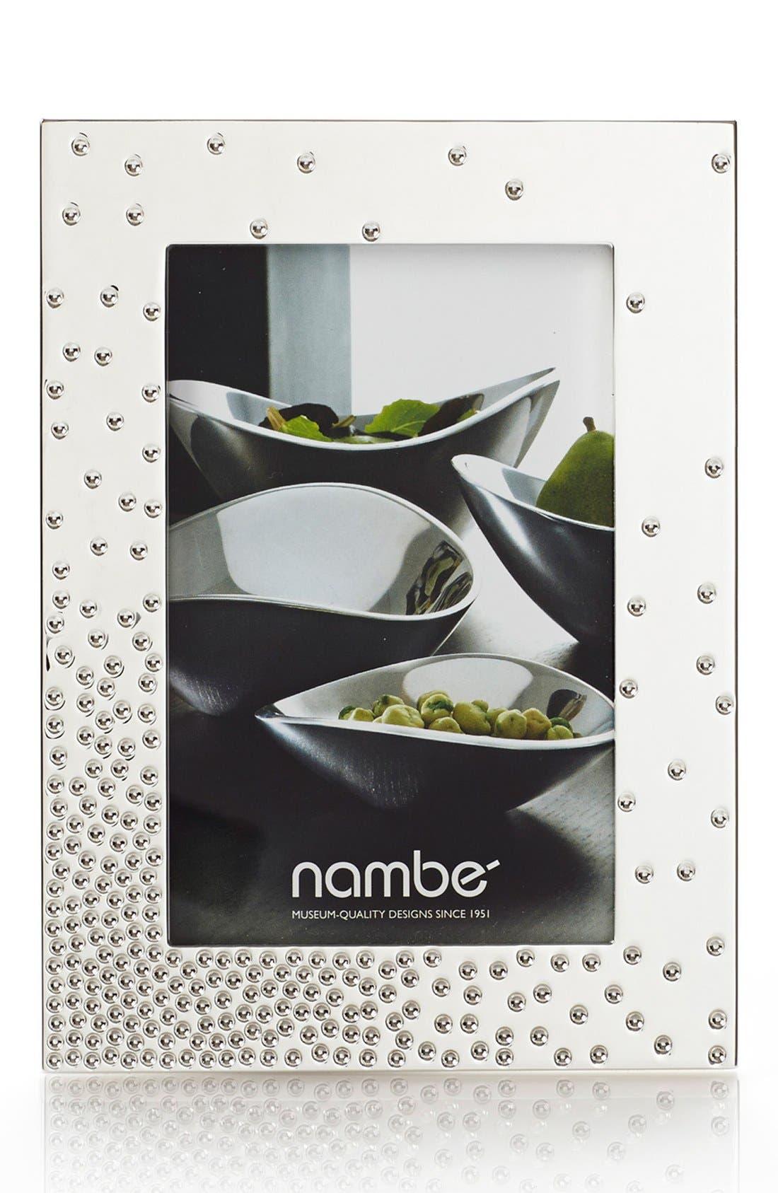 NAMBÉ, Nambe Dazzle Picture Frame, Alternate thumbnail 2, color, SILVER