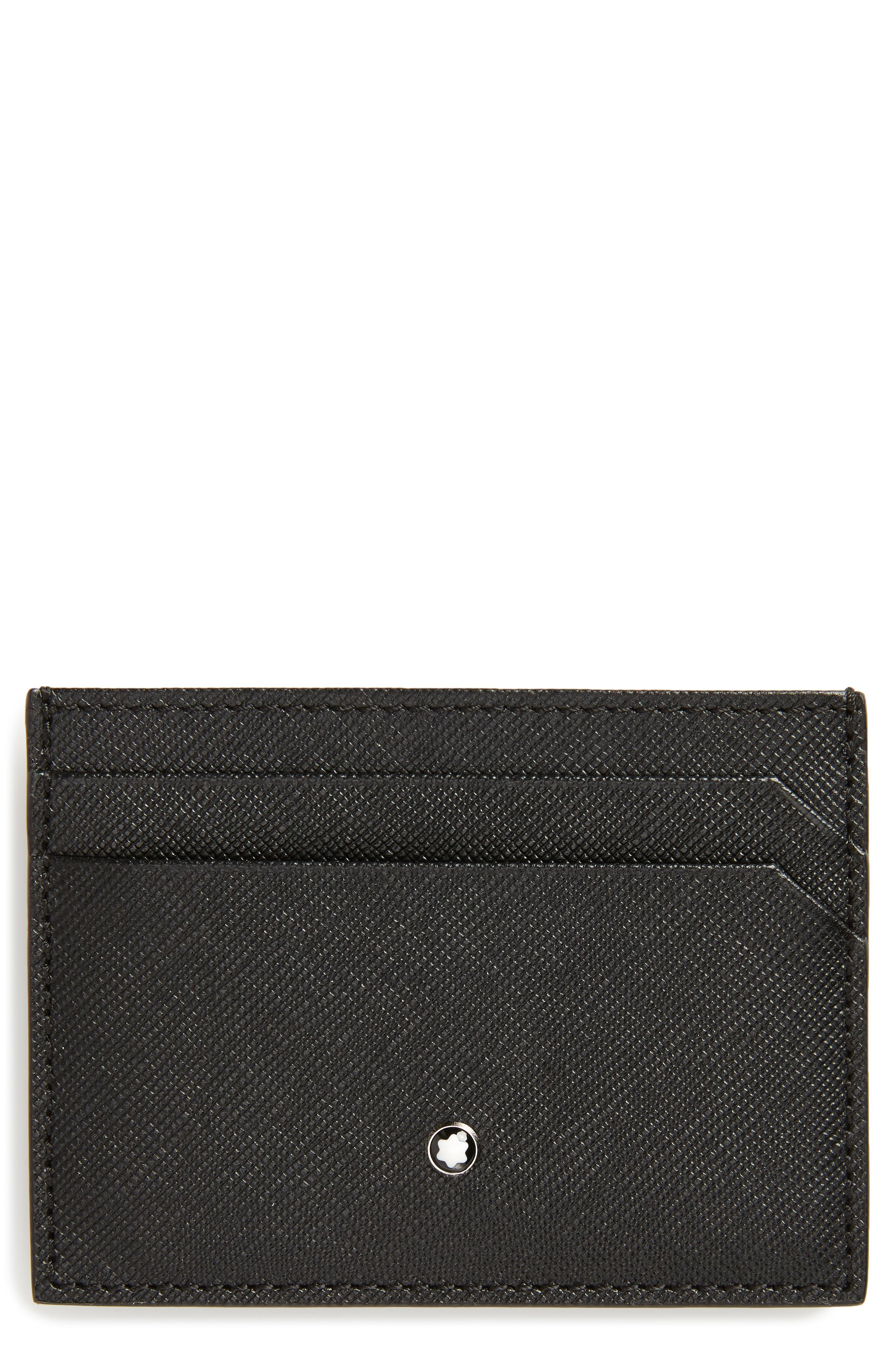 MONTBLANC, Sartorial Leather Card Case, Main thumbnail 1, color, 001