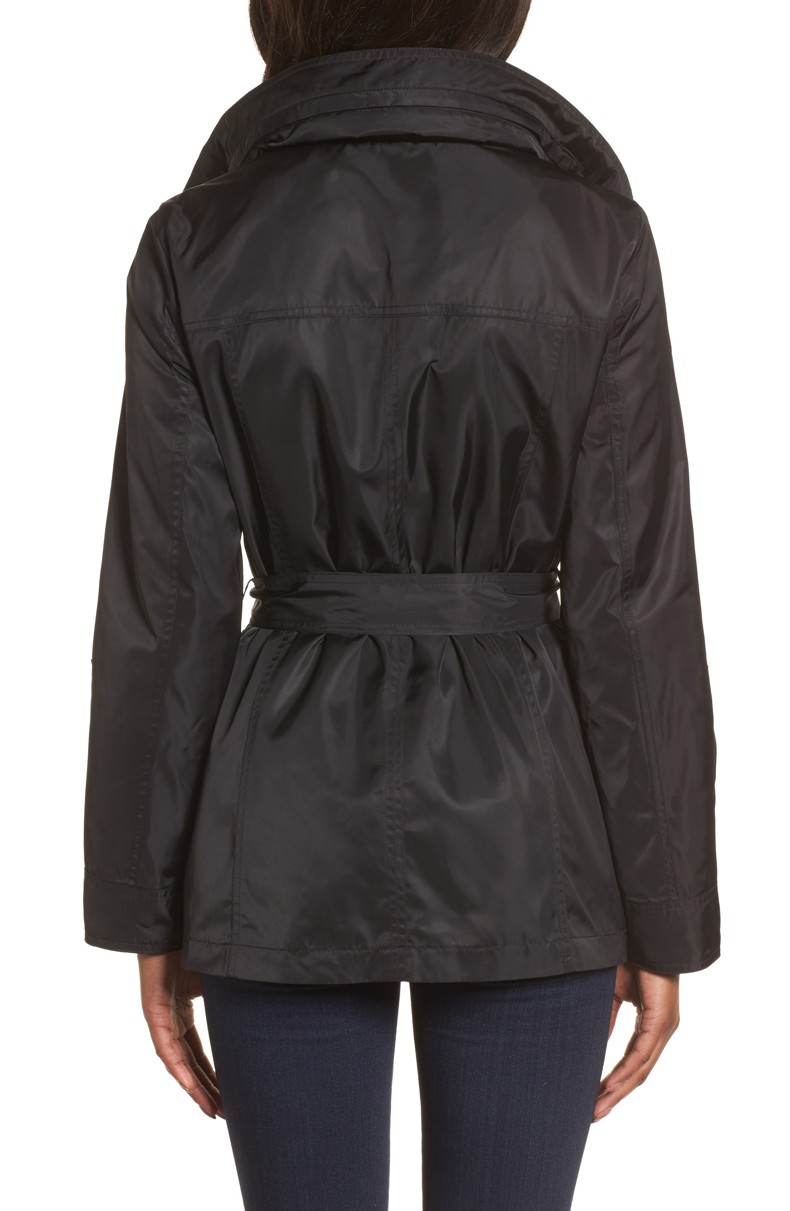 HALOGEN<SUP>®</SUP>, Belted Lightweight Jacket, Alternate thumbnail 2, color, BLACK