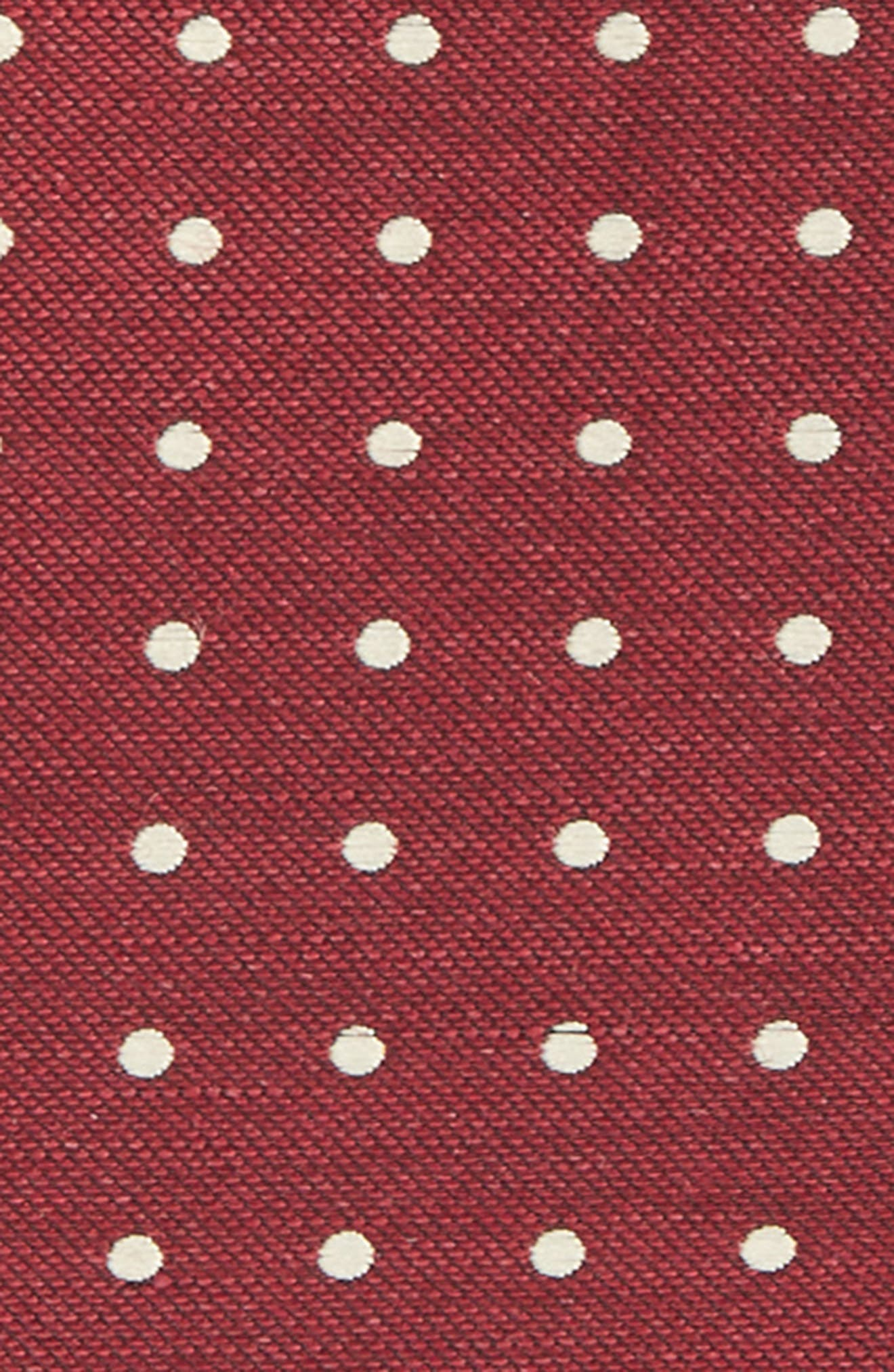 THE TIE BAR, 3-Pack Pocket Squares, Alternate thumbnail 3, color, BURGUNDY