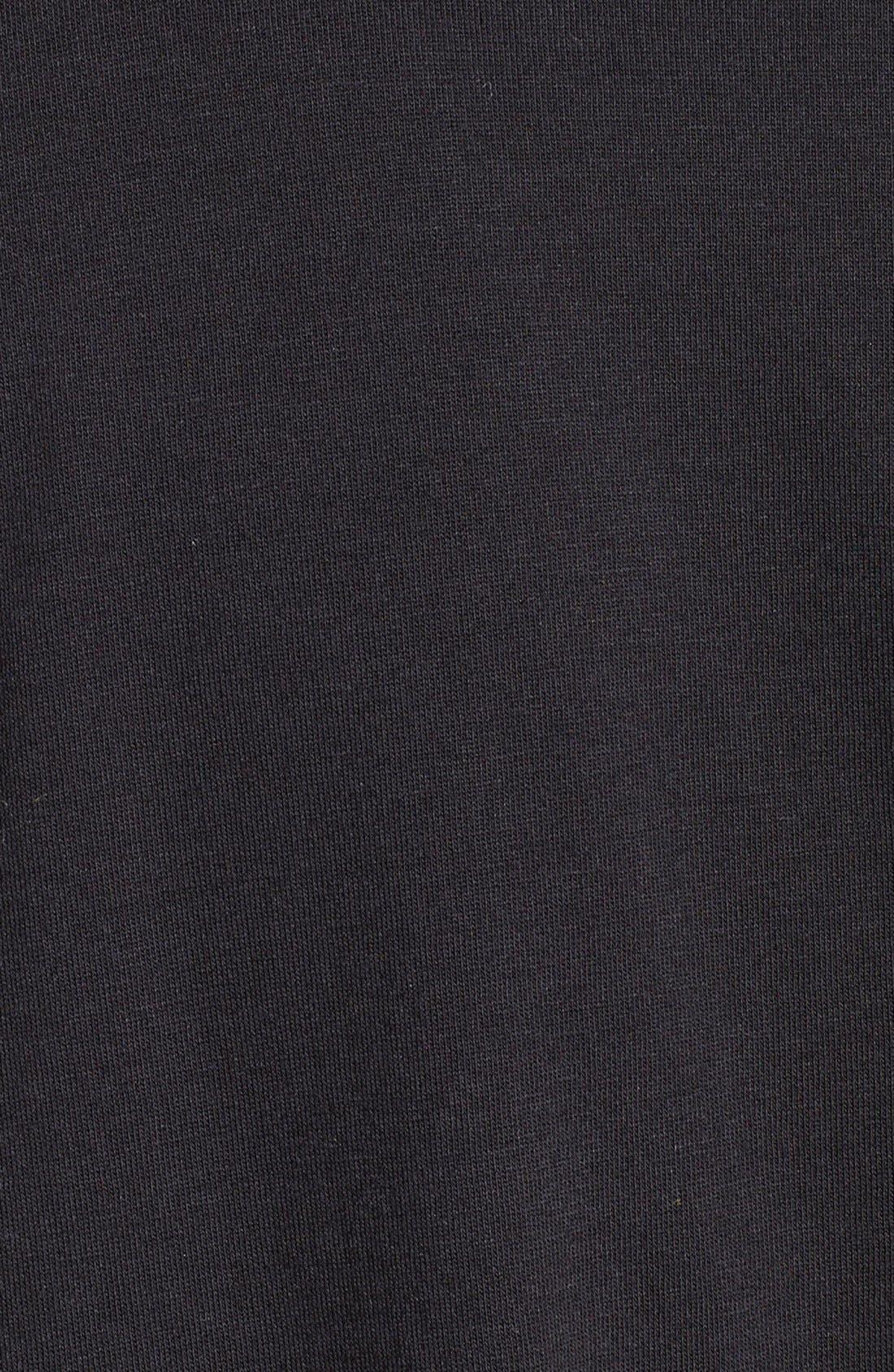 THE KOOPLES SPORT, Asymmetrical Zip Silk Shirt, Alternate thumbnail 3, color, 001
