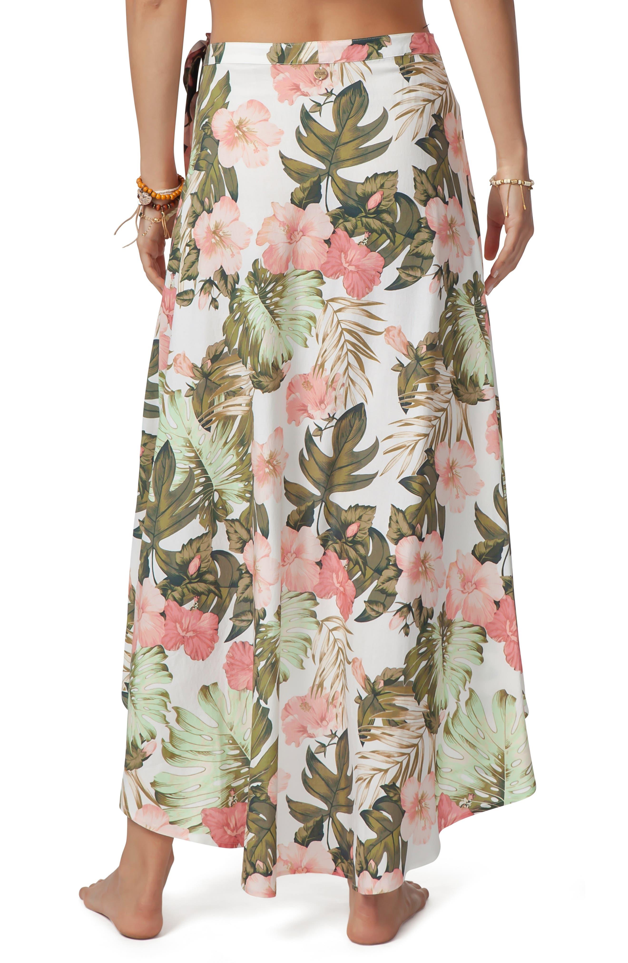 RIP CURL, Hanalei Bay Wrap Skirt, Alternate thumbnail 2, color, 100